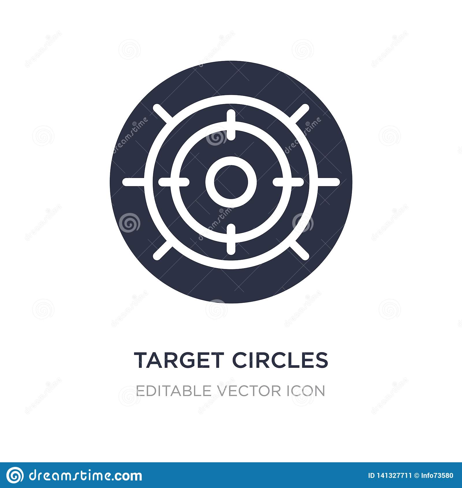 target circles icon on white background. Simple element illustration from Tools and utensils concept