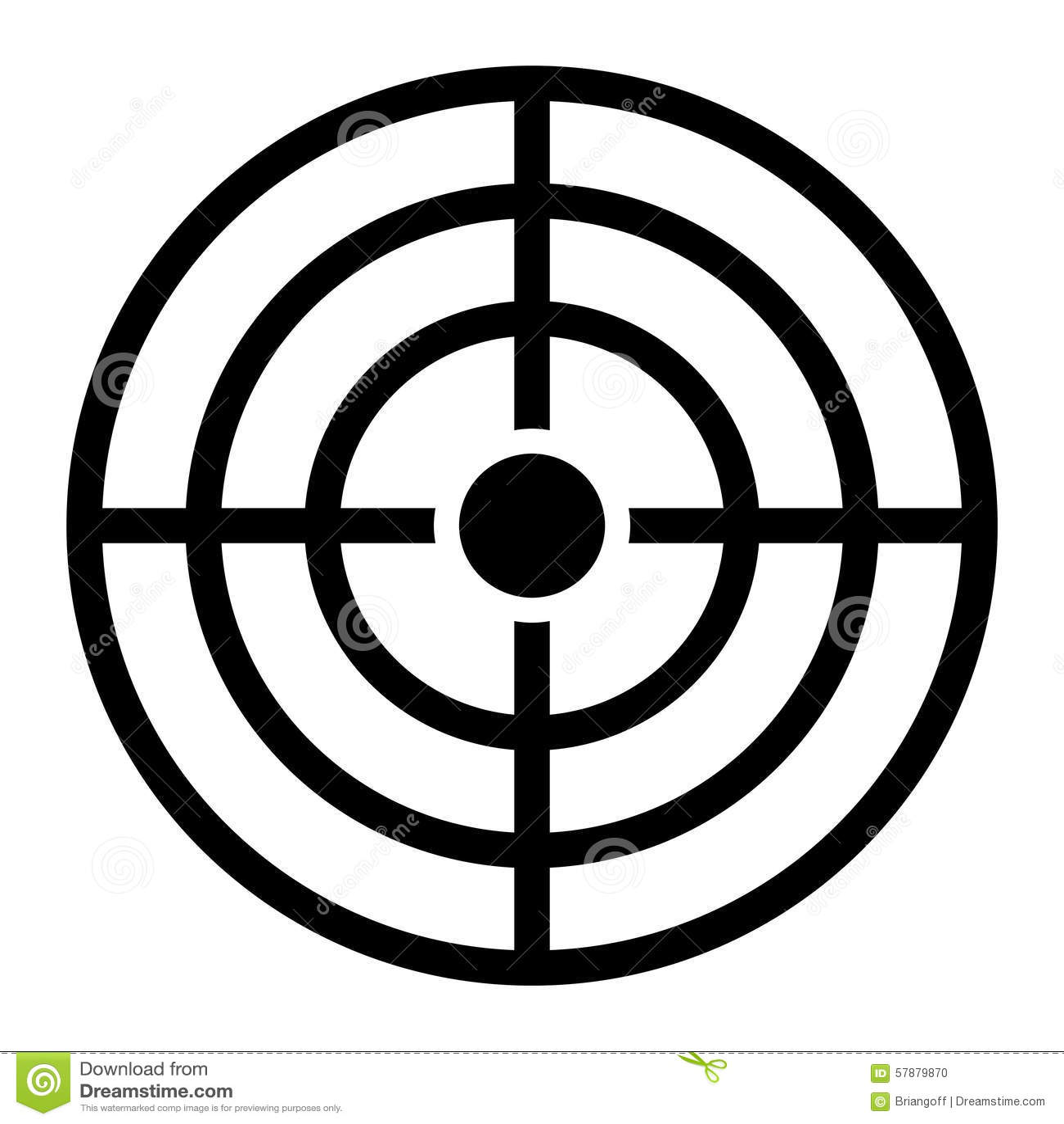 Target Crosshairs Aim stock vector. Illustration of design