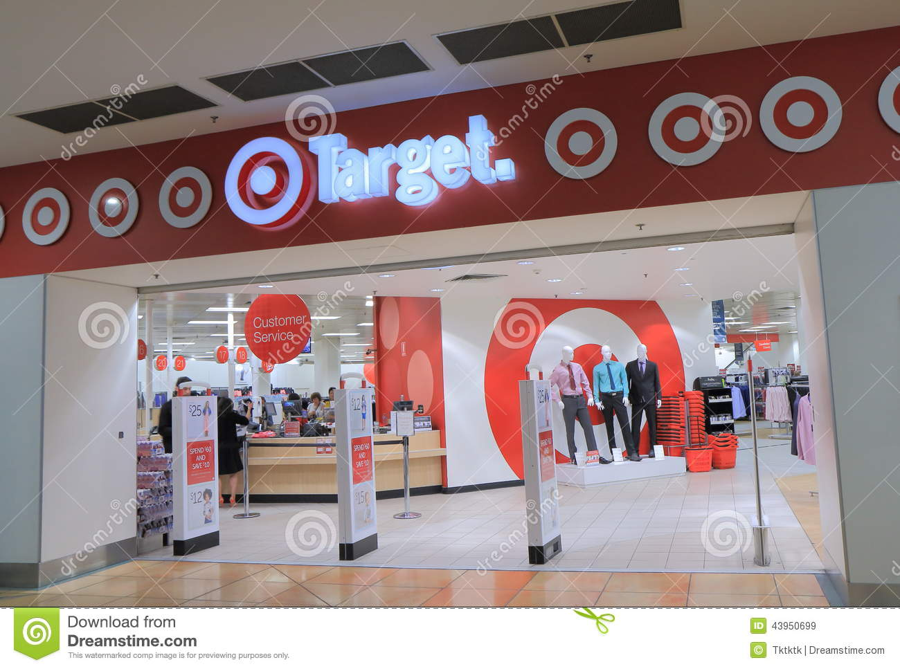People shop at Target department store