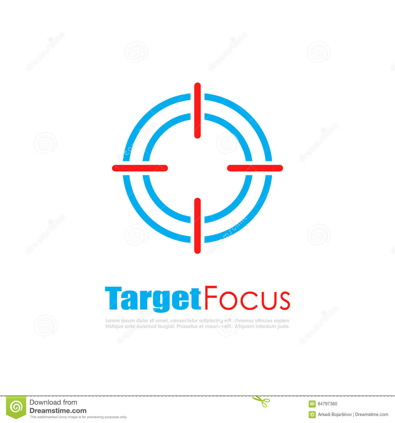 Target focus abstract logo