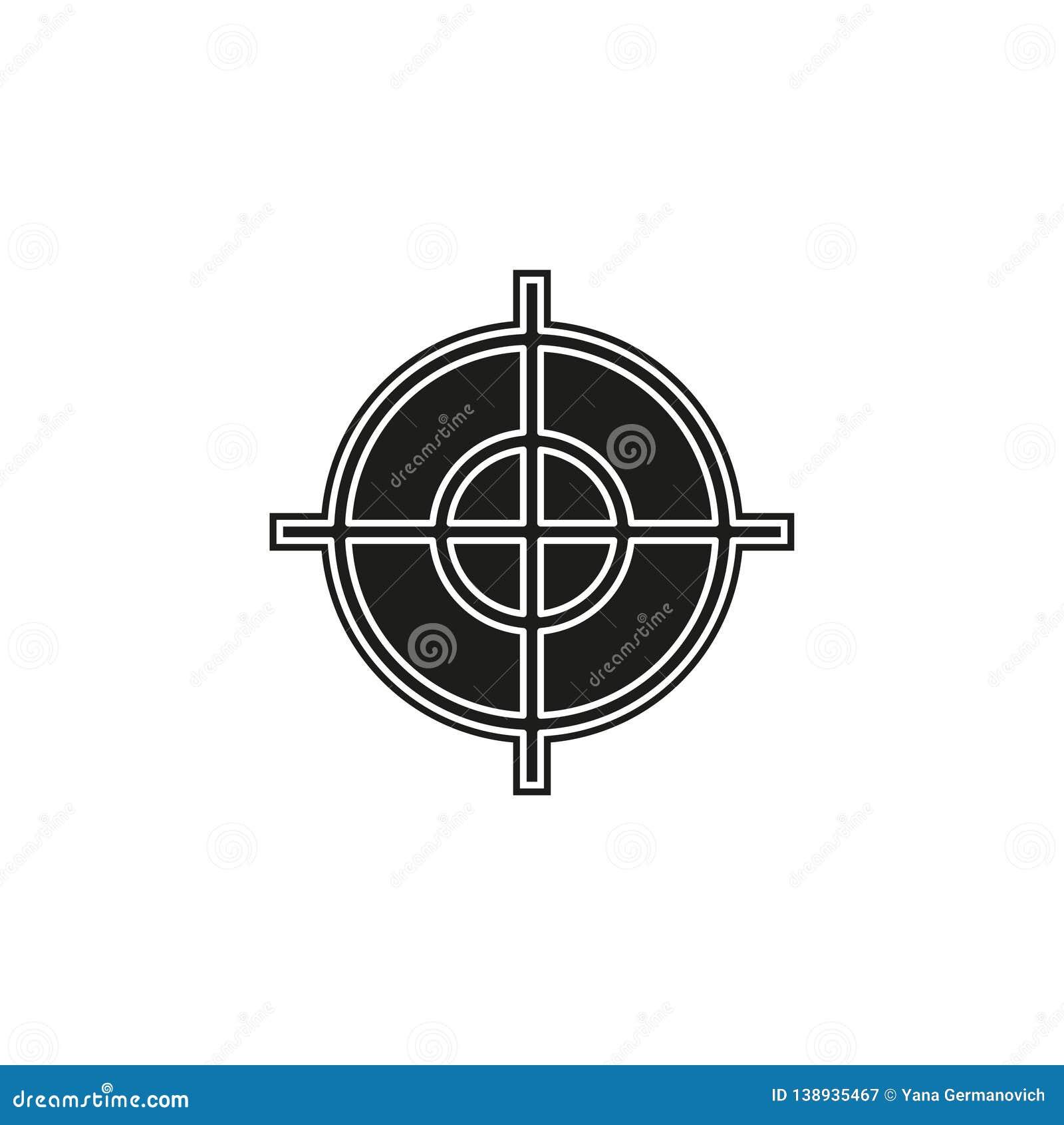 target goal icon, target focus arrow, marketing aim