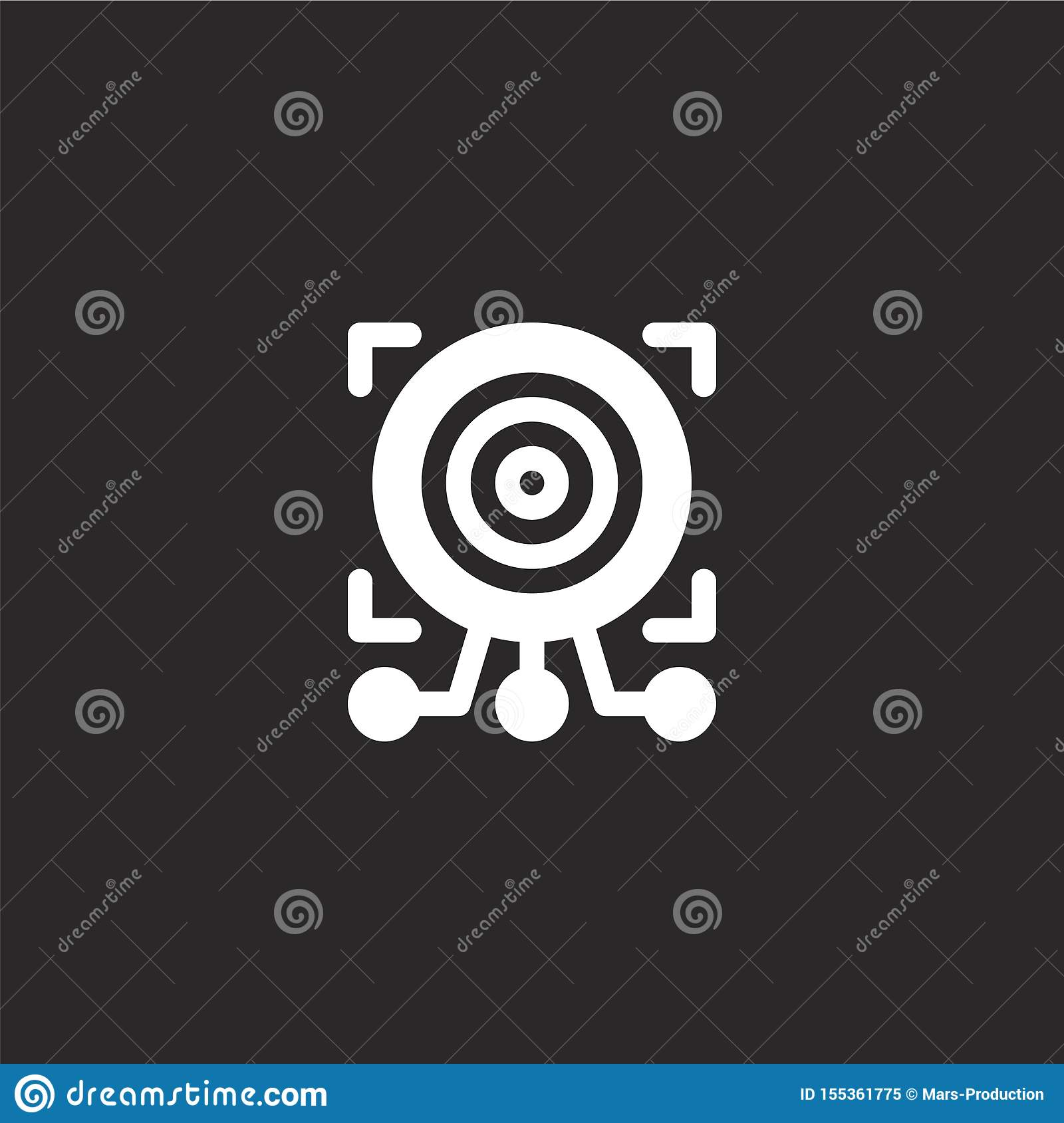 target icon. Filled target icon for website design and mobile, app development. target icon from filled artificial intelligence