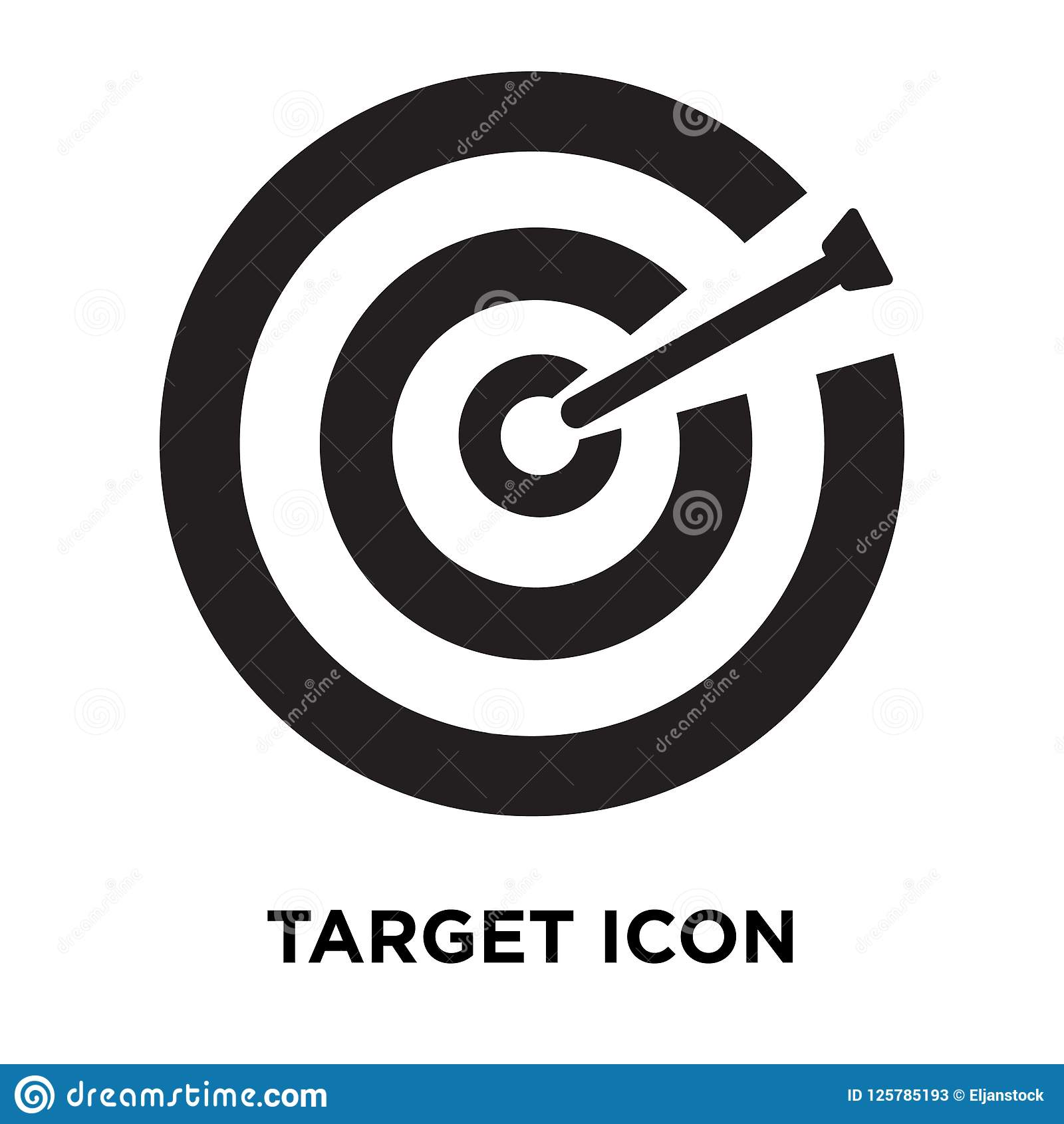 Target Icon Vector Isolated On White Background Logo
