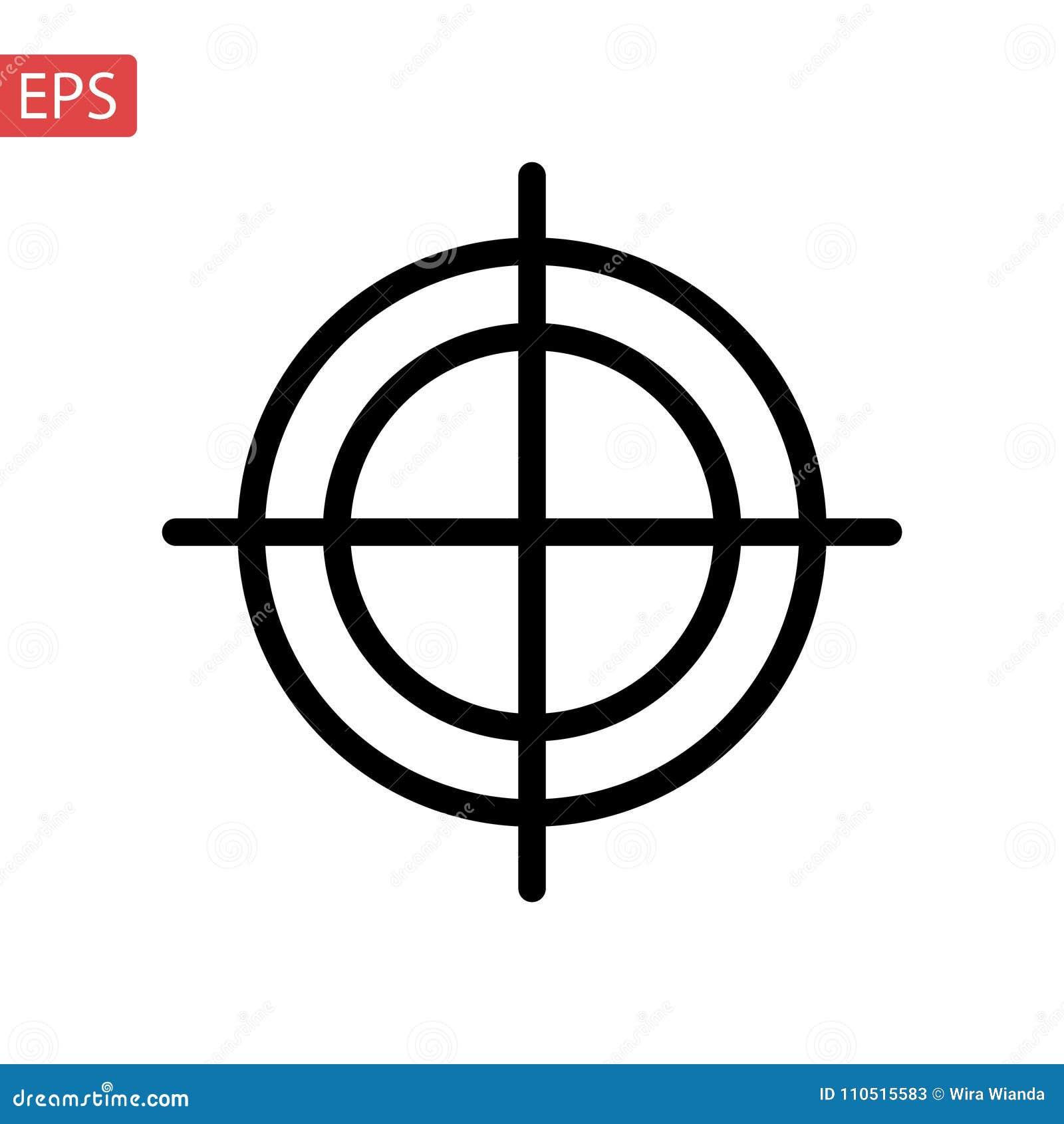 White Background Vector Illustration Target Icon Stock