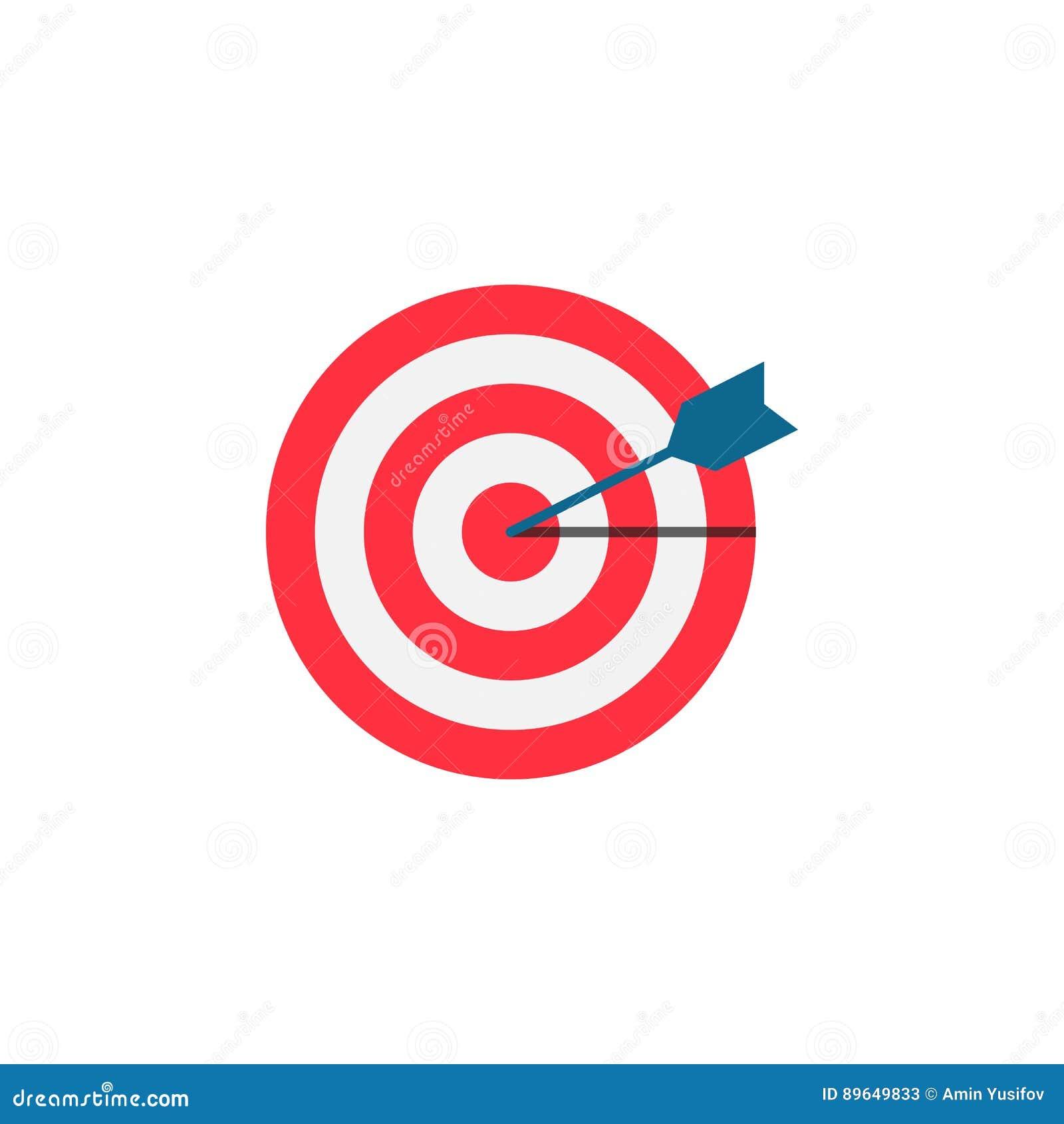 Target keyword flat icon