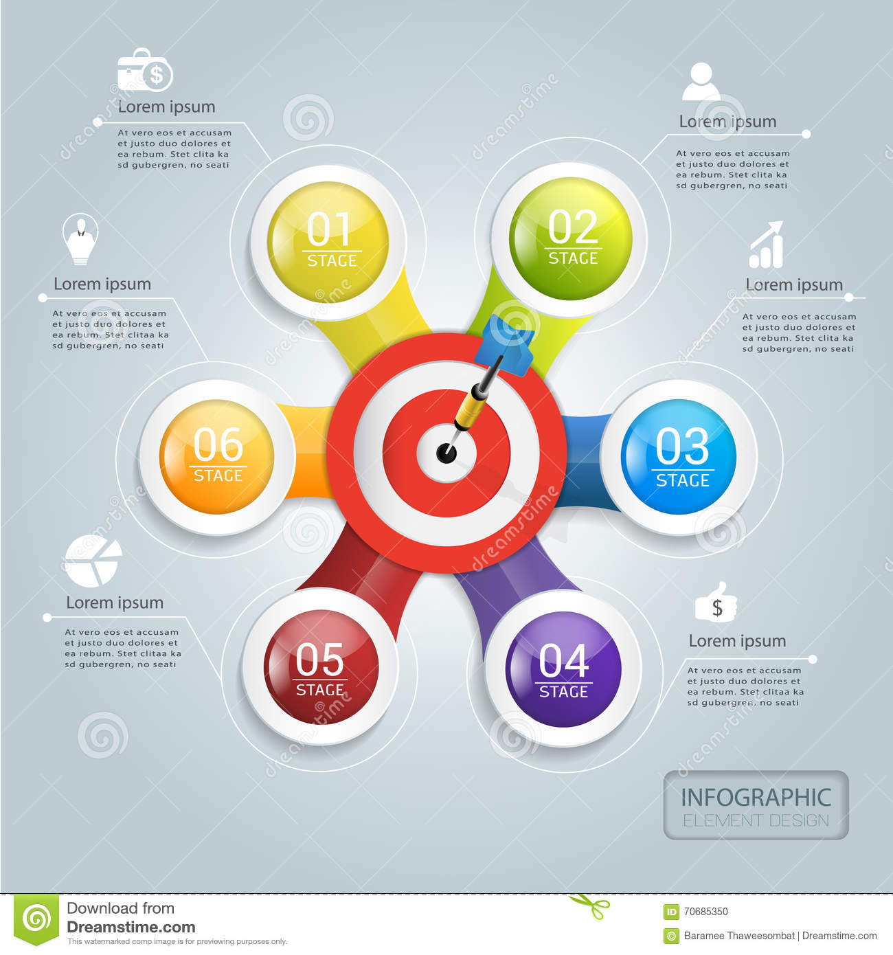 target marketing to success infographic design stock vector