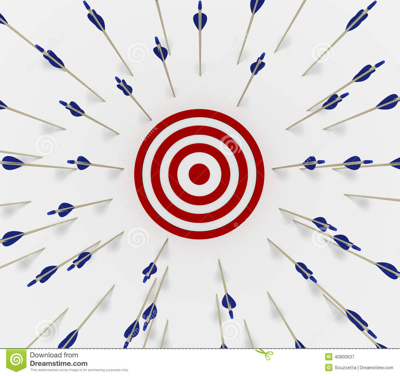 target missed stock illustration   image 40800637