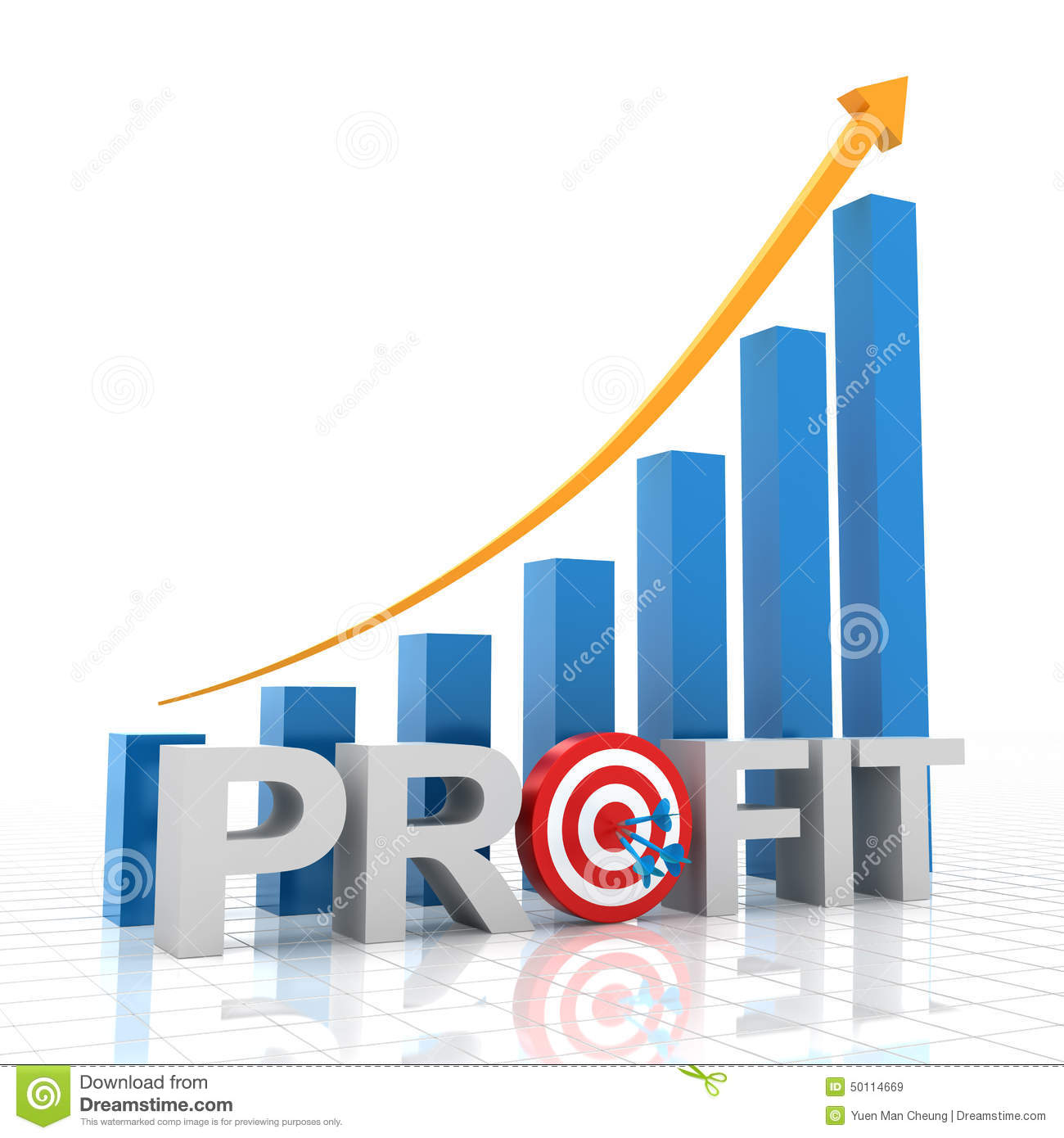 Target profit growth chart 3d render stock illustration target profit growth chart 3d render geenschuldenfo Images