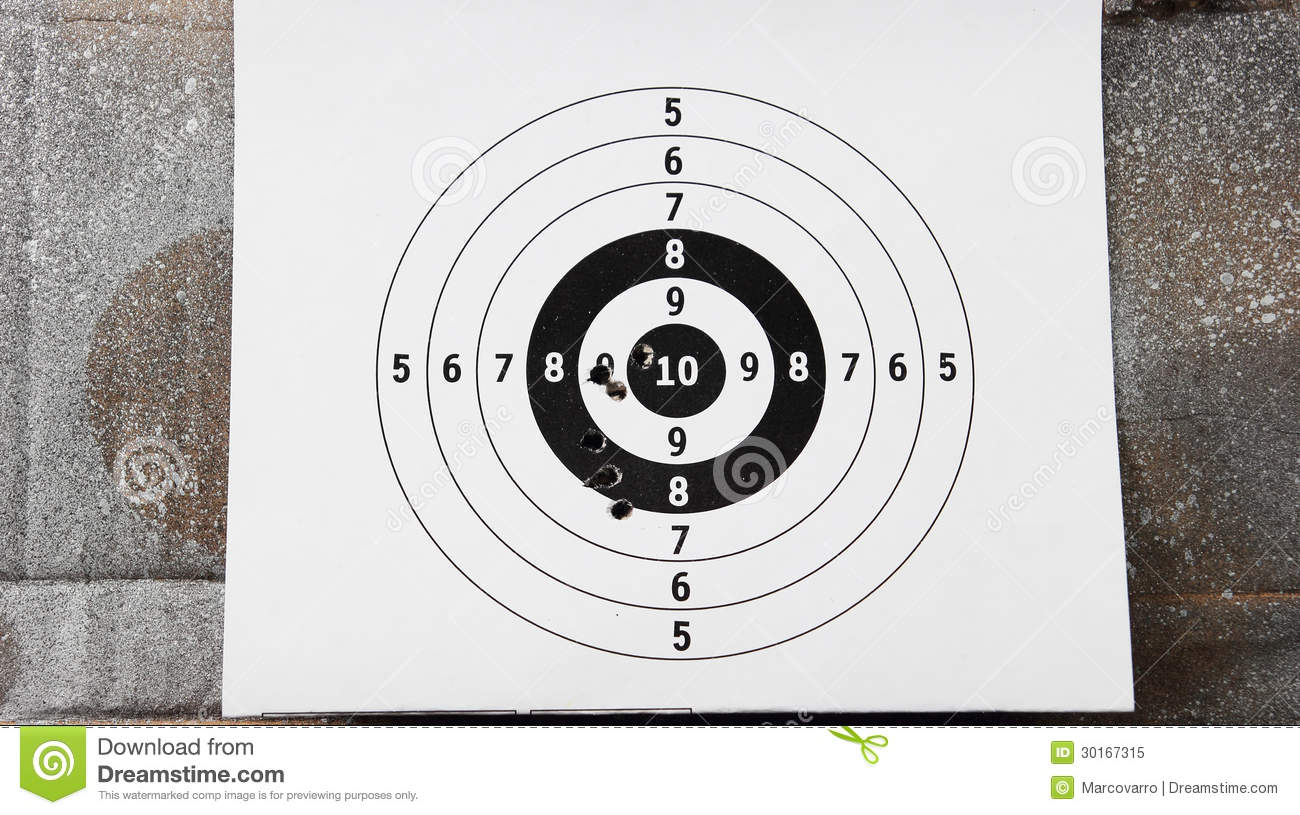 The target for shooting practice.