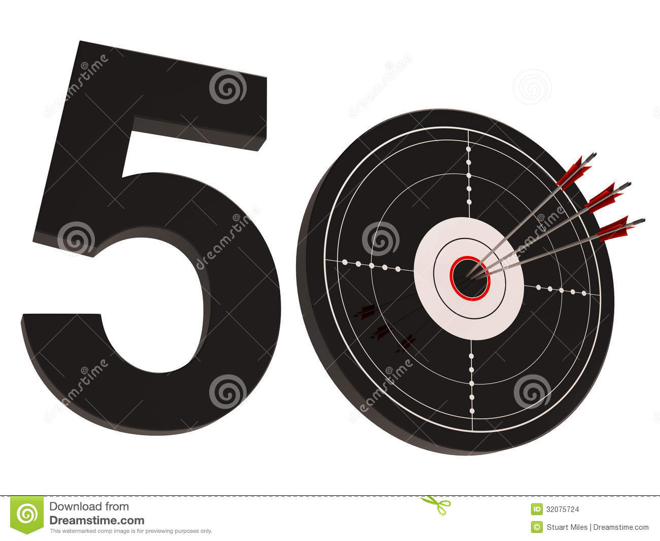 50 Target Shows Number Fifty Stock Images - Image: 32075724