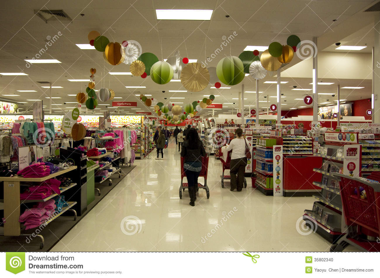 Christmas Decorations Supermarket Stock Photos Images Pictures
