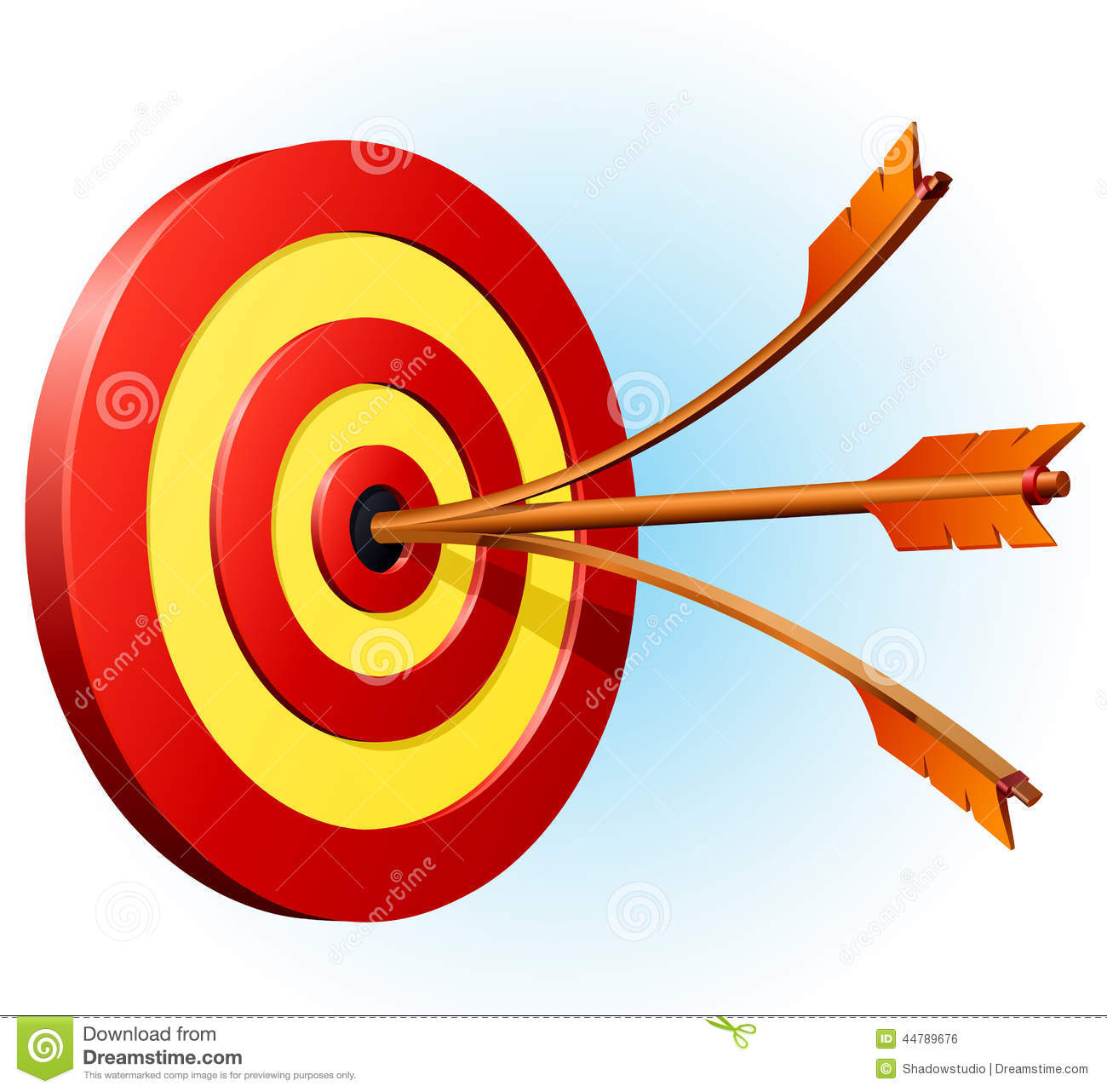 Target with two arrows