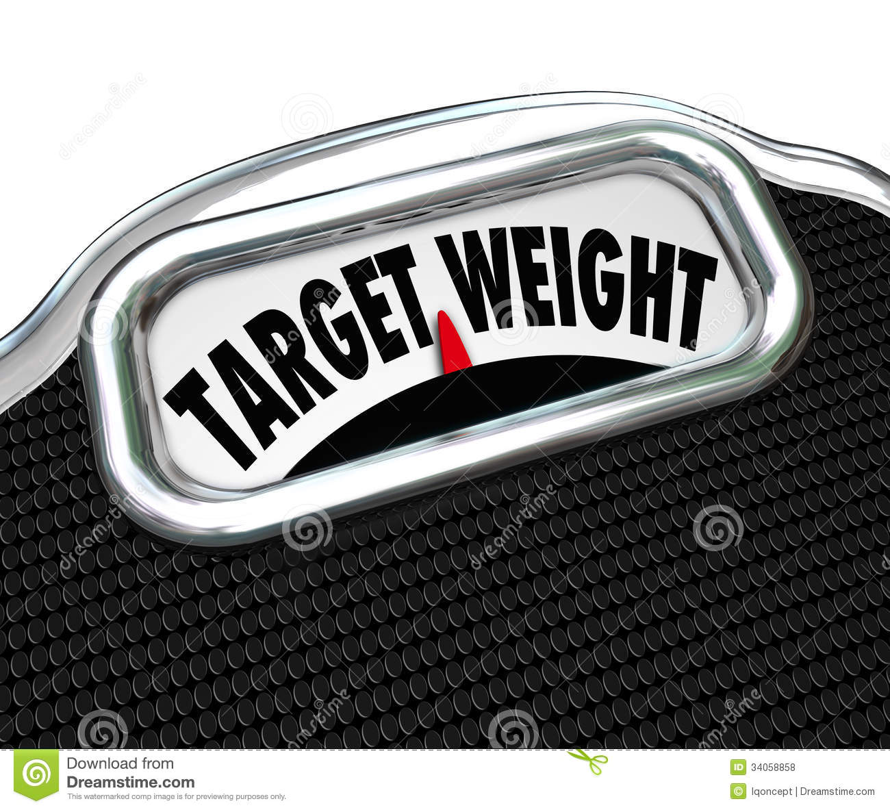 Target Weight Words Scale Healthy Goal Fitness Royalty