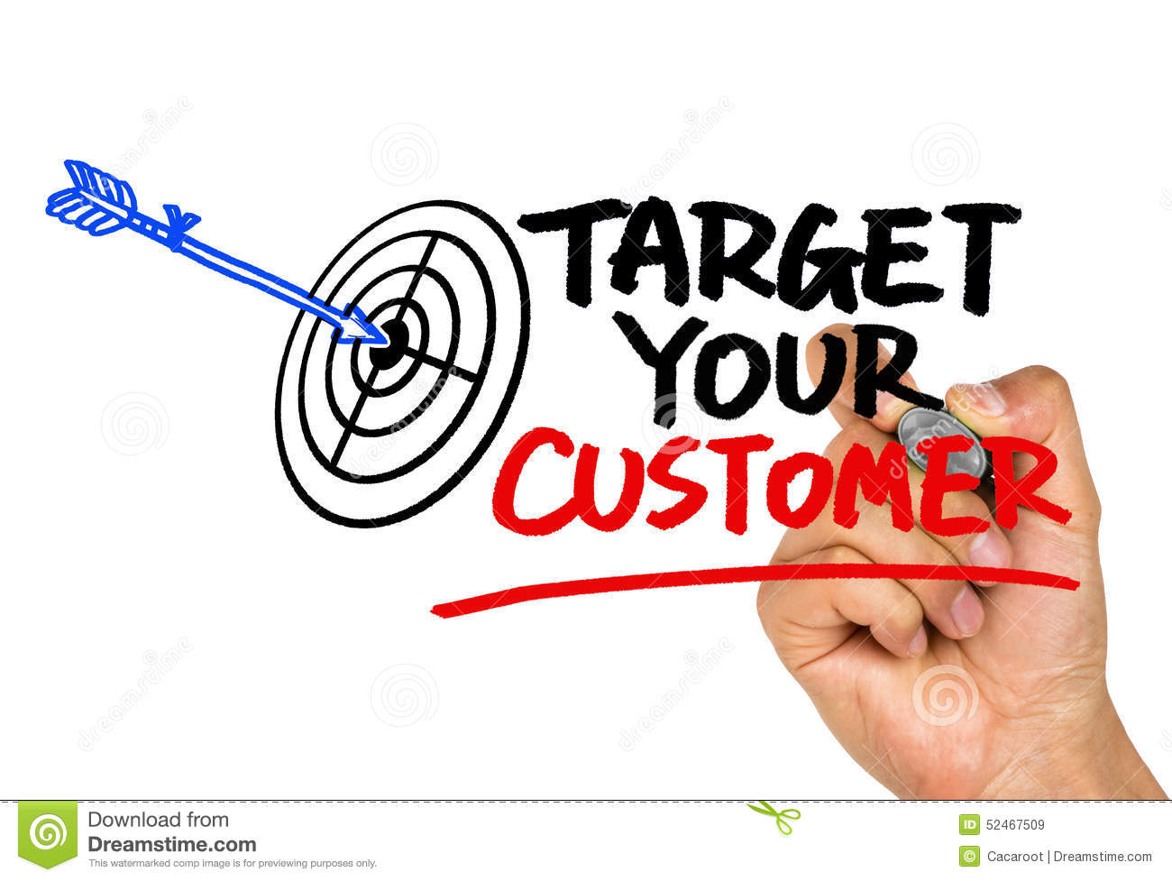 target customer Your target customer is the person you've identified as most likely to purchase your products, according to entrepreneurcom this is a much more segmented portion of your target market, as you've identified certain aspects of this individual.