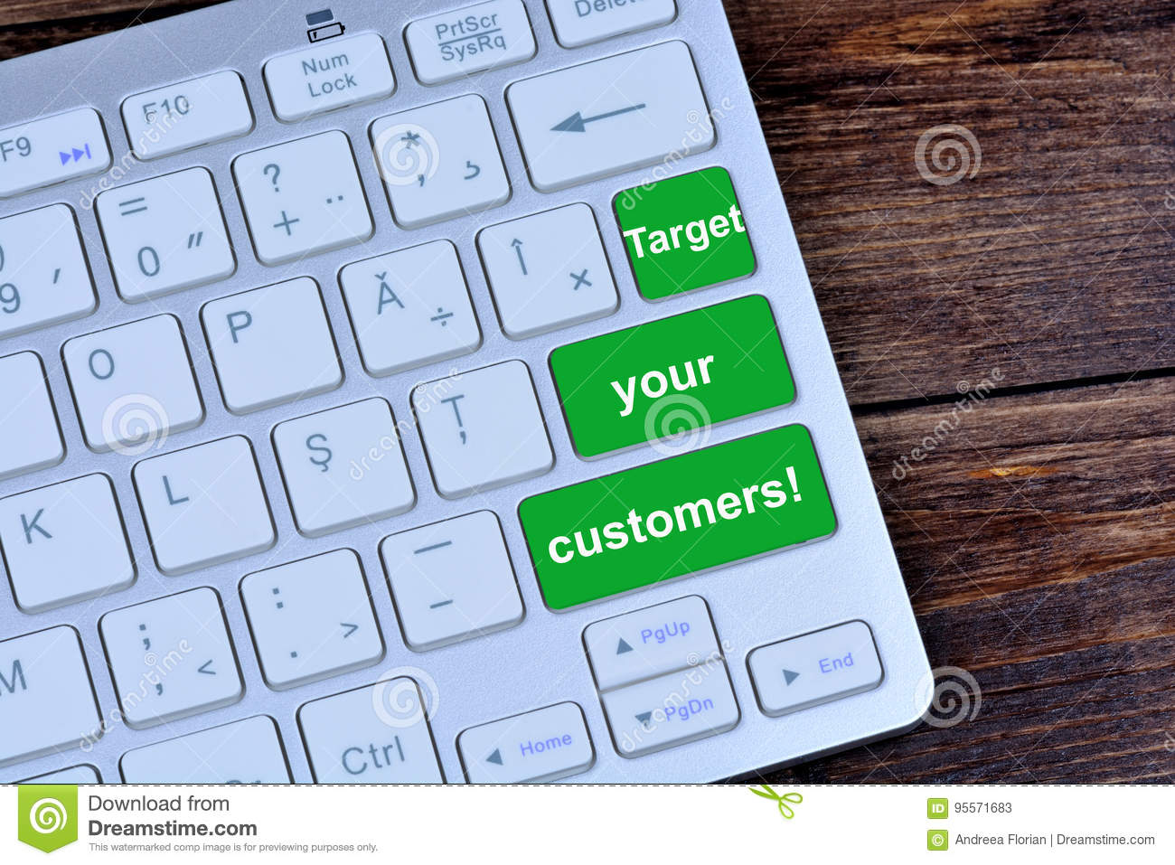 Target your customers on keyboard buttons