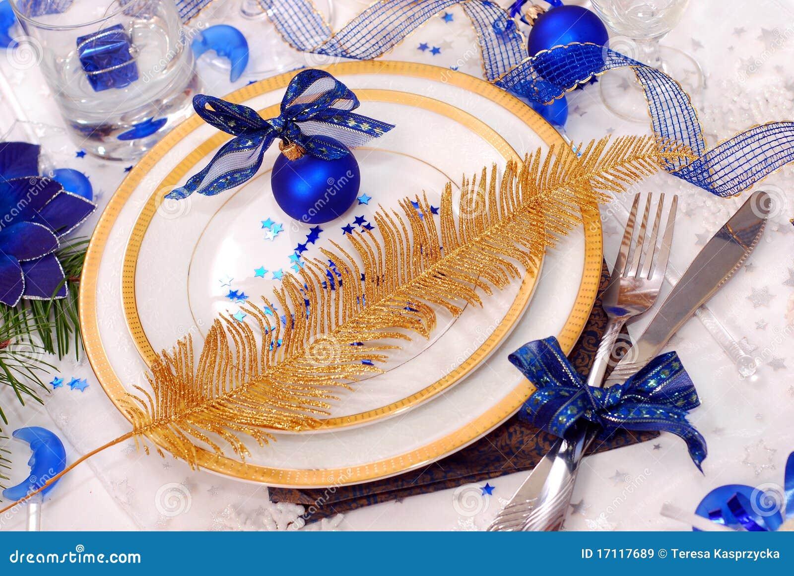 Target1492_1_ stołowego biel boże narodzenie błękitny kolory