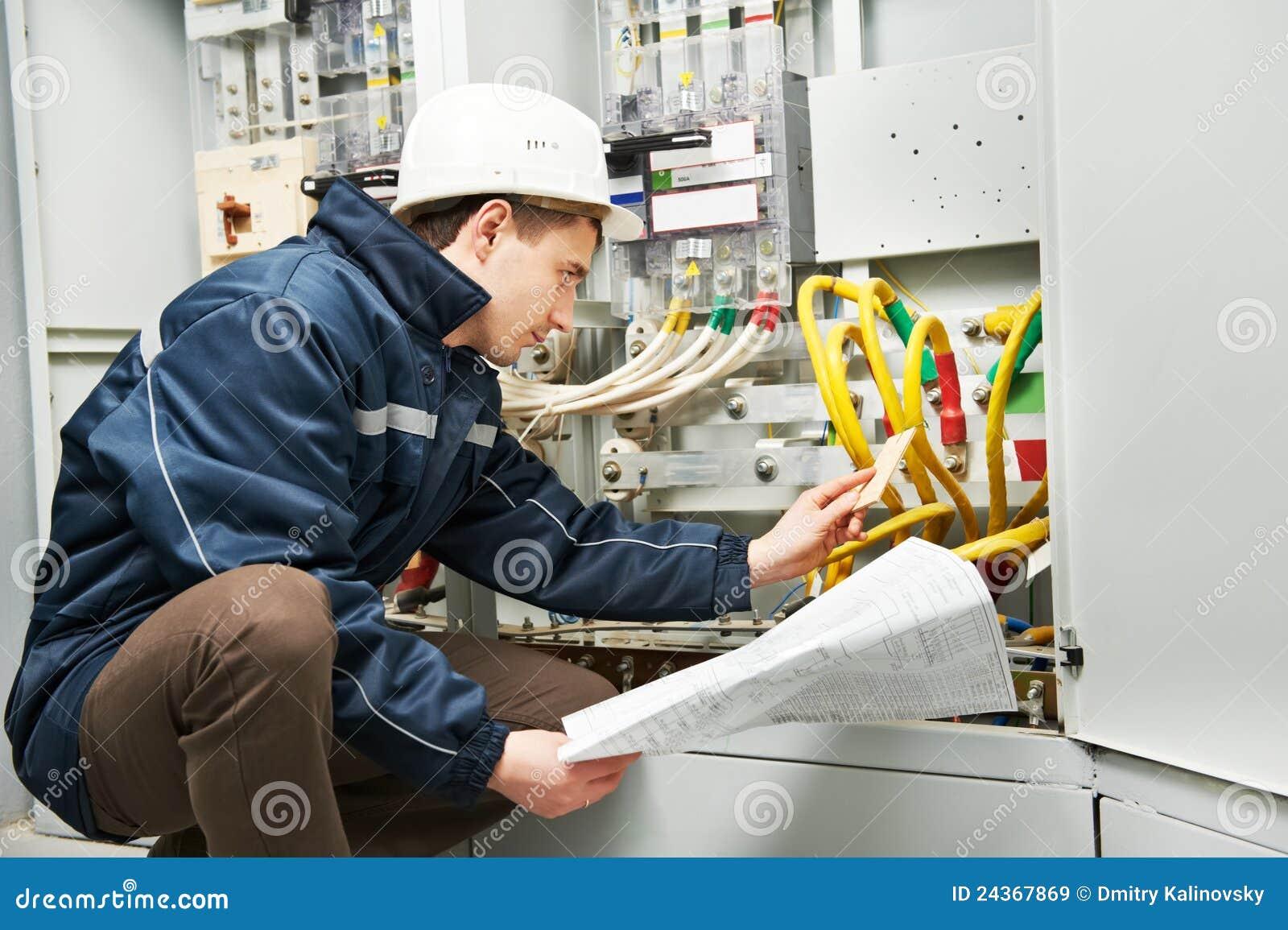 Target2410_0_ sprawdzać elektryk linię władza