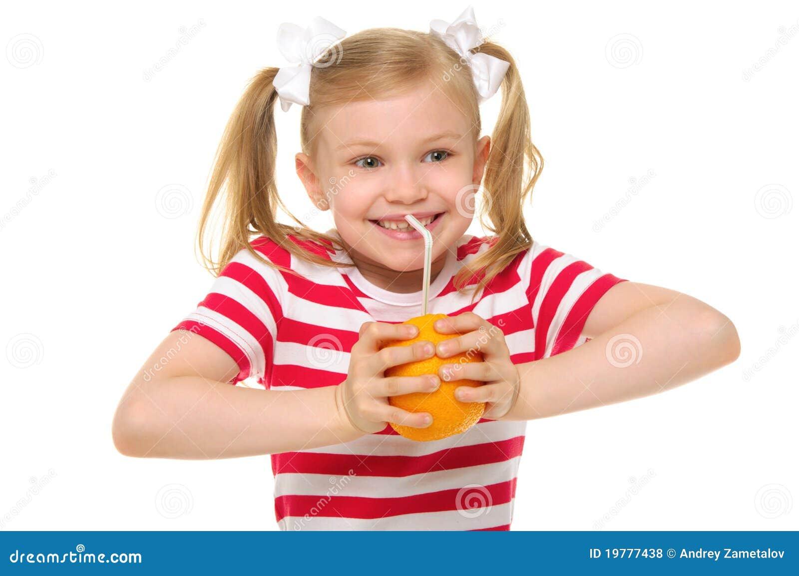 Target269_0_ dziewczyny soku szczęsliwa pomarańczowa słoma