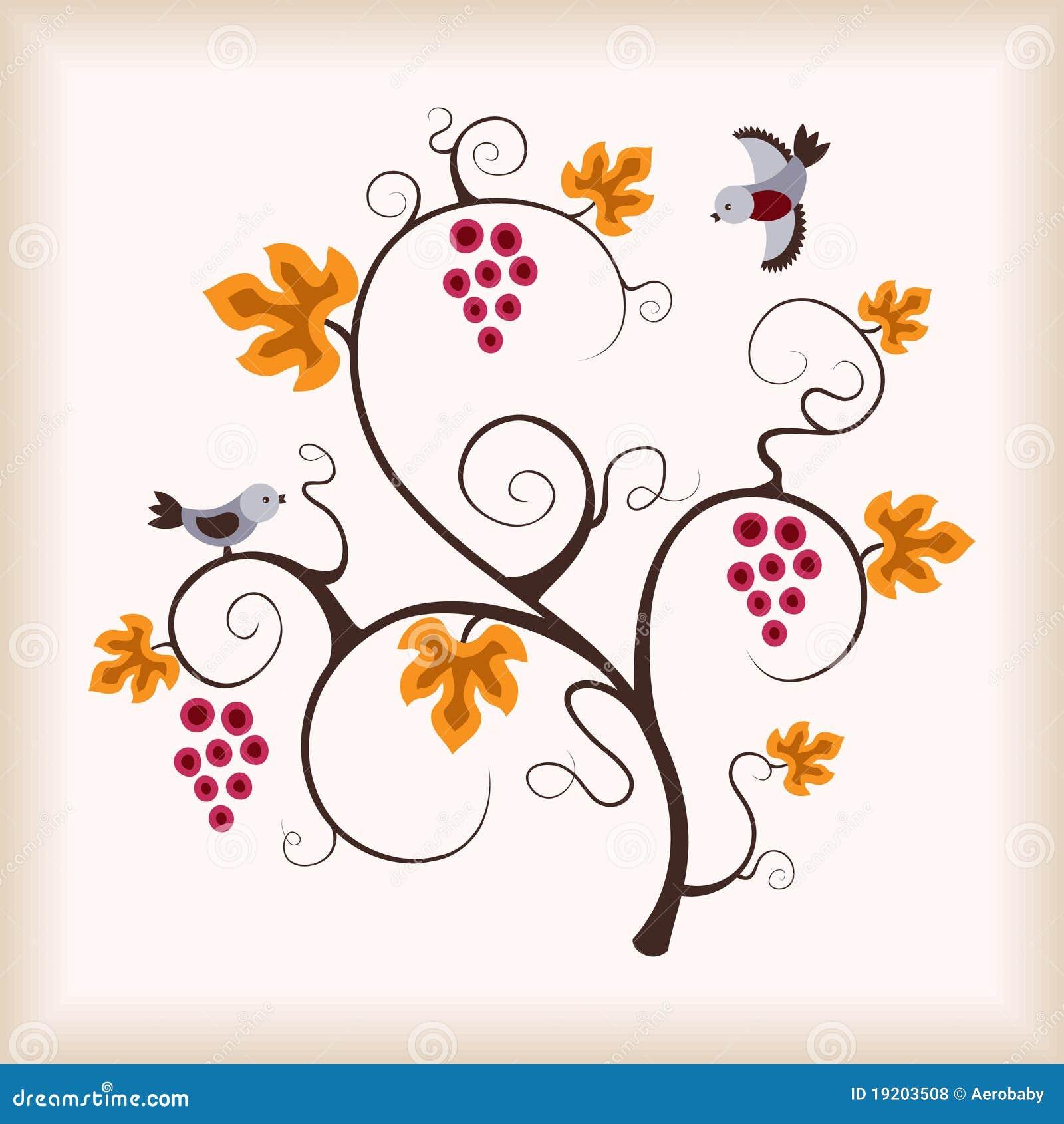 Target717_1_ gronowego winograd ptasia elegancja