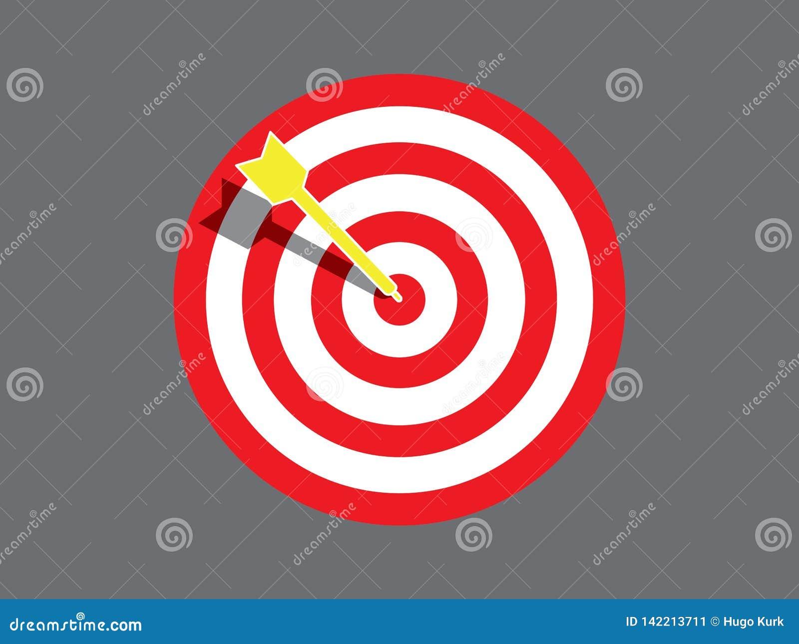 Targetboard z strzałą
