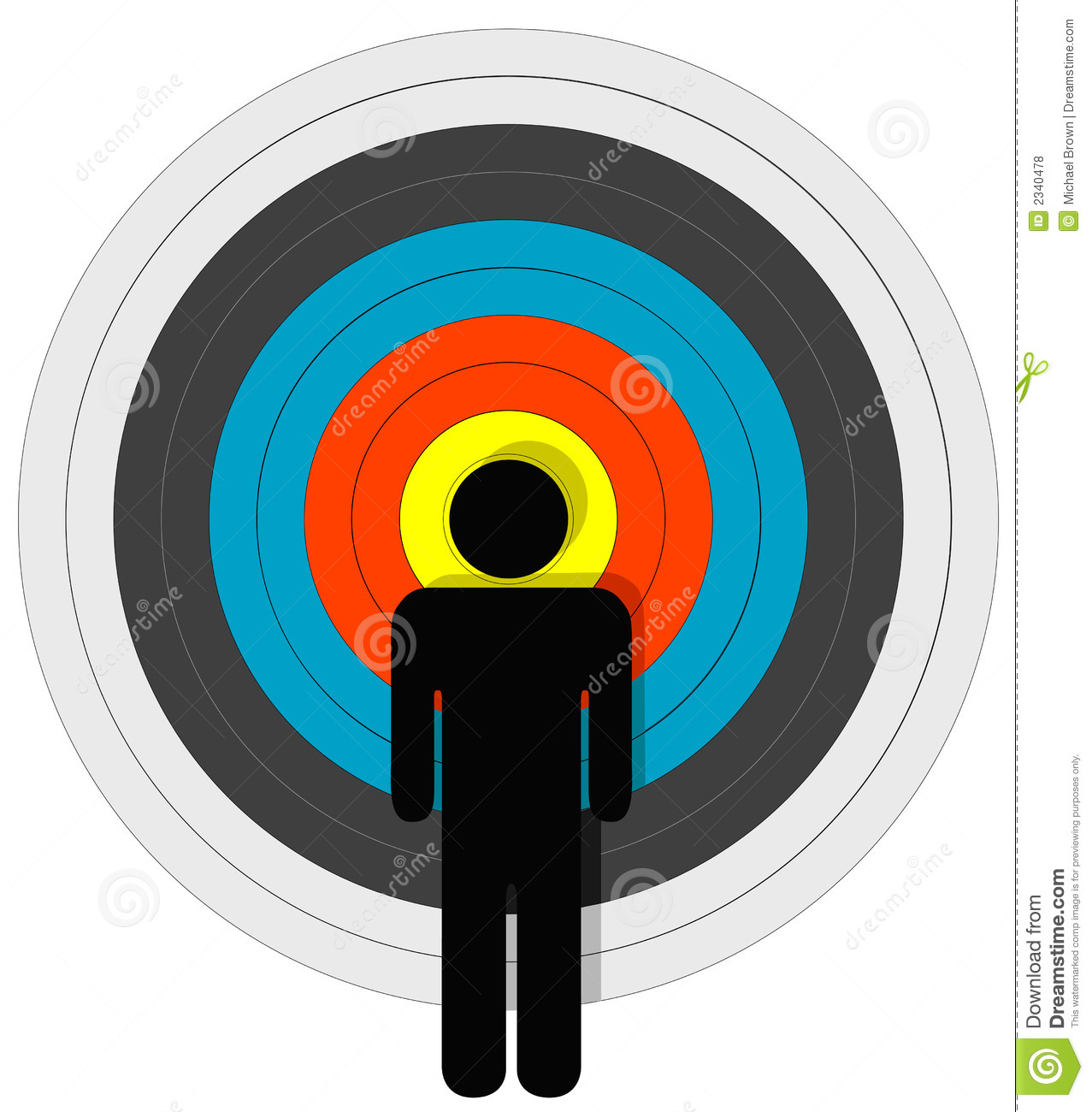 targeted person in bullseye royalty free stock photos image 2340478