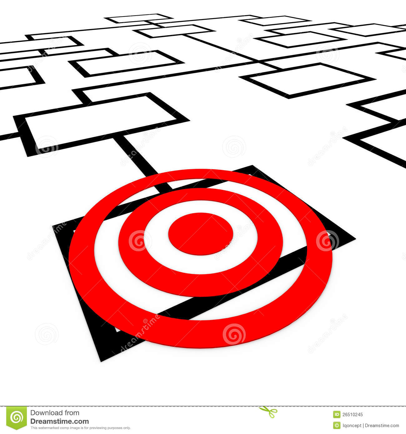 Targeted position organization org chart bulls eye stock for Bullseye chart template