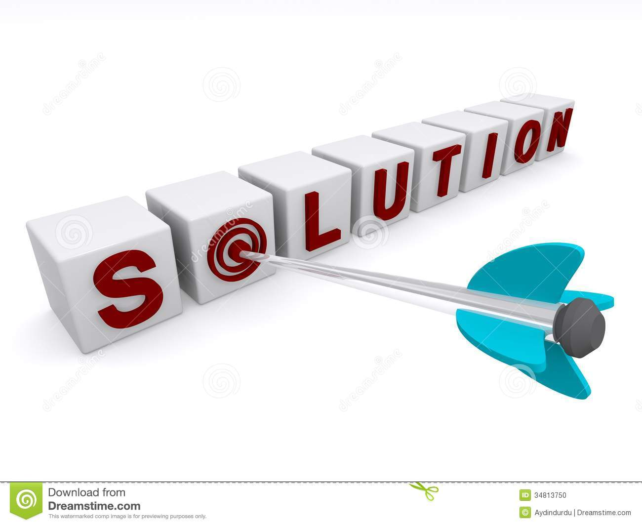 targeted solution stock photo image 34813750