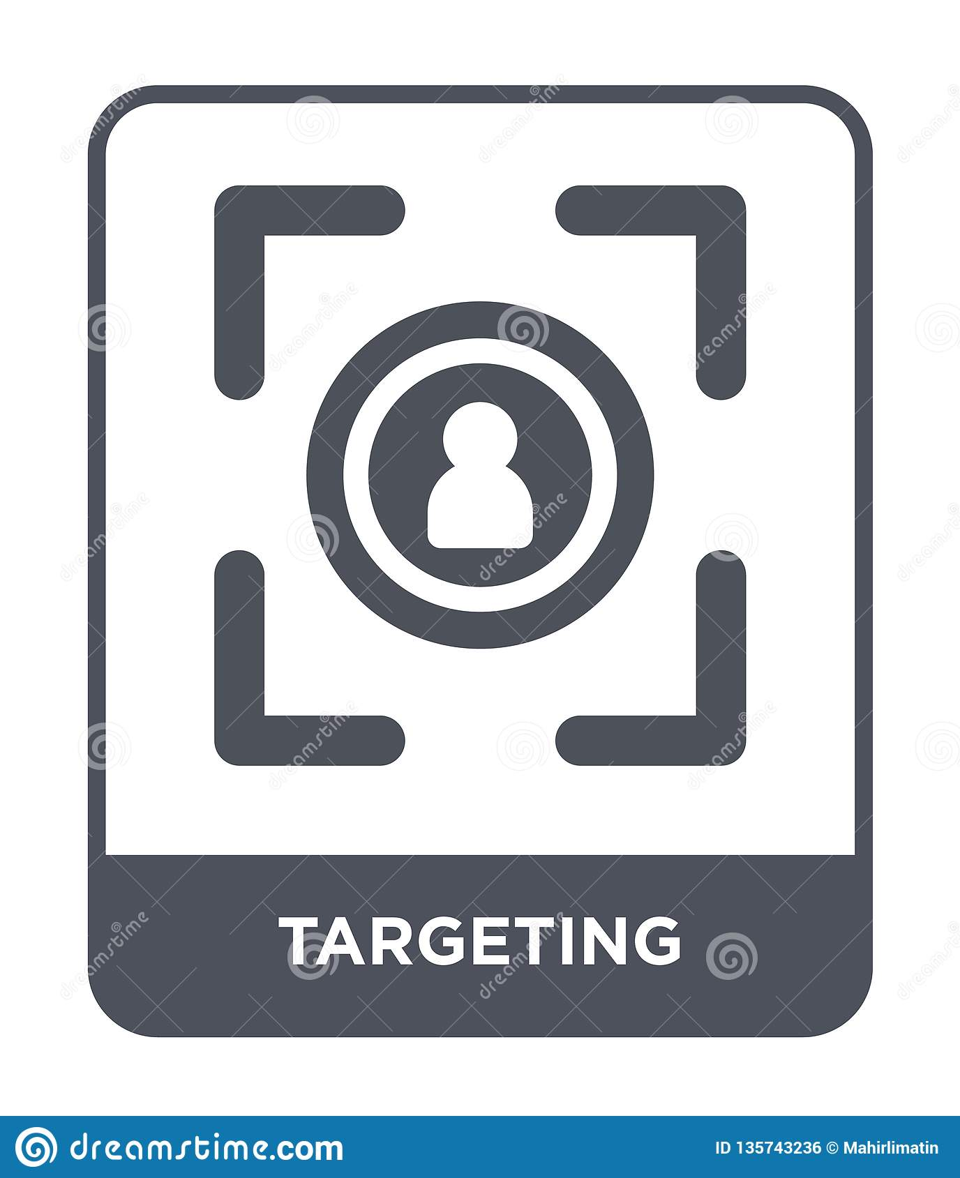 targeting icon in trendy design style. targeting icon isolated on white background. targeting vector icon simple and modern flat
