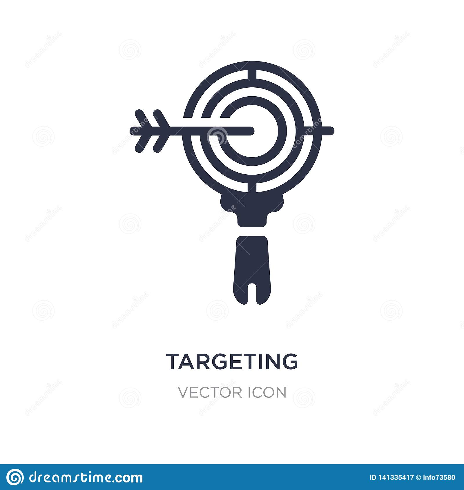 Targeting Icon On White Background  Simple Element