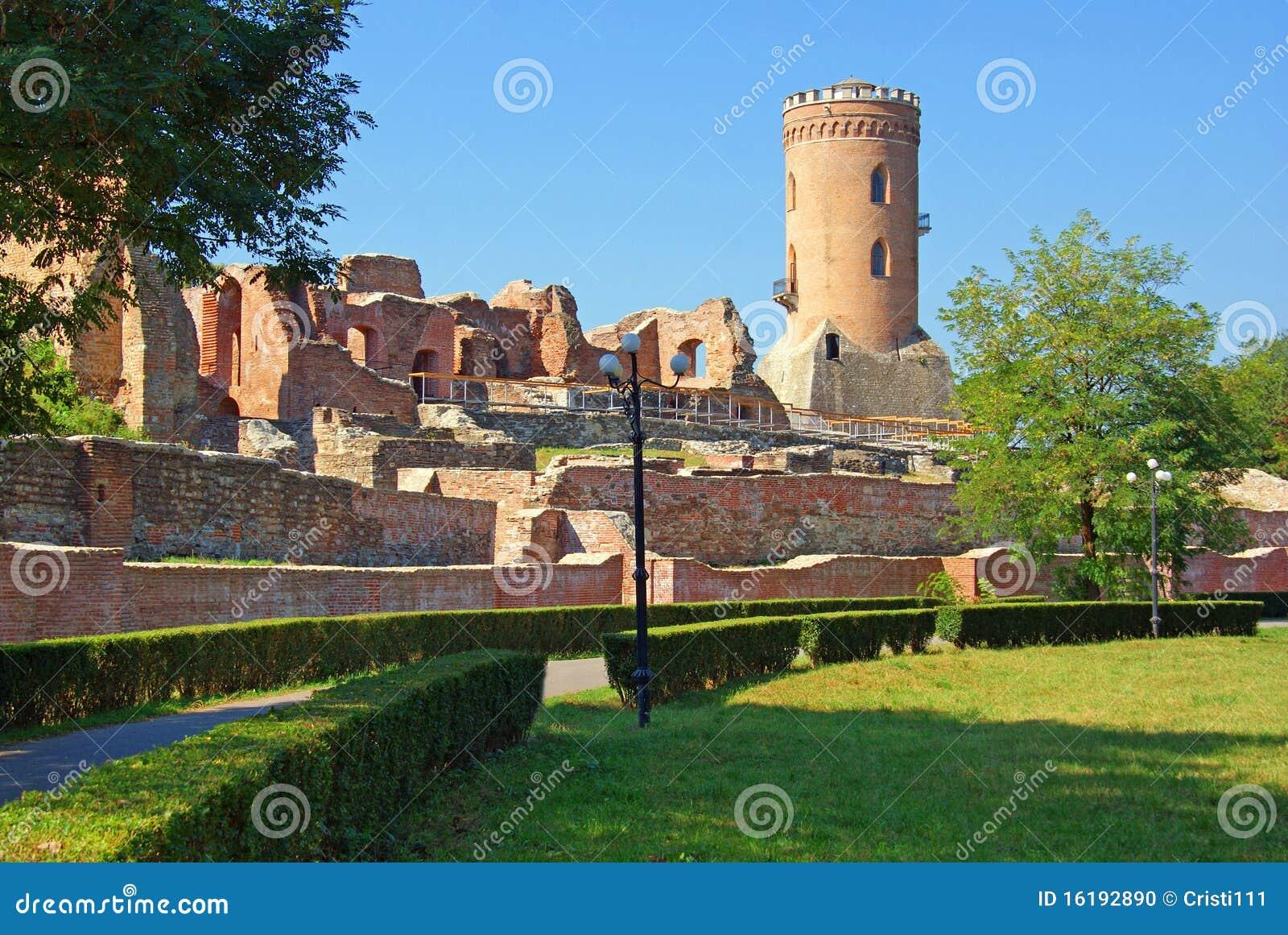 Targoviste: Chindia Tower And Citadel Stock Photo - Image ...