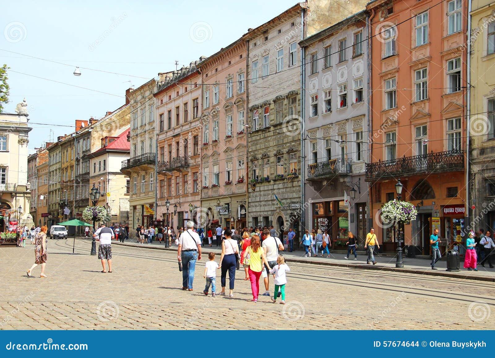 Targowy kwadrat, Lviv, Ukraina