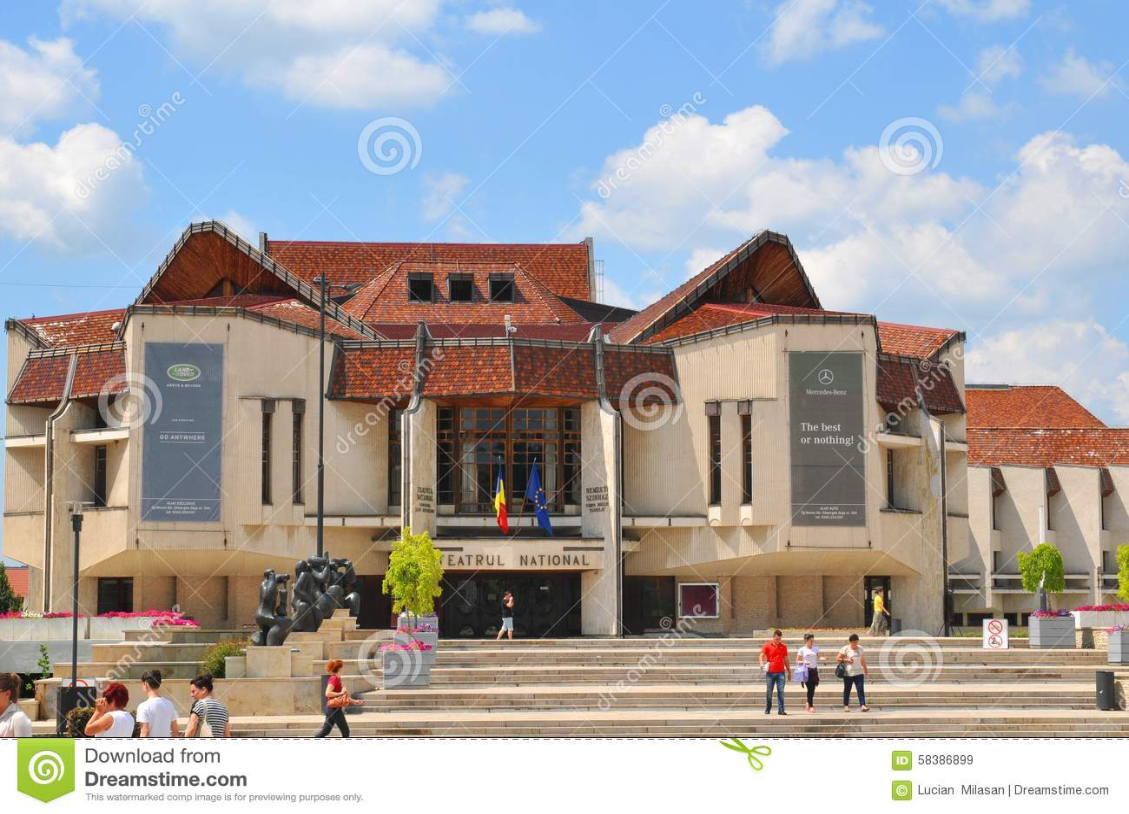 Targu Mures Romania  city photo : Targu Mures, Romania July 2, 2015: View of modern architecture of ...