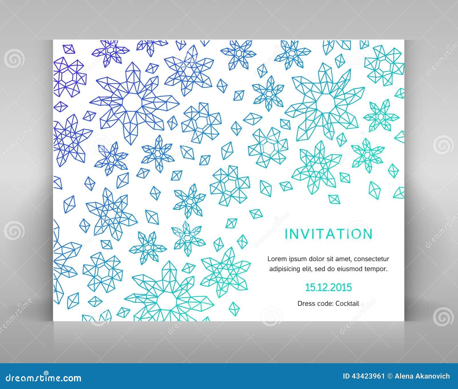 1a5ff2668a645 Tarjeta Blanca Con La Decoración Geométrica Ilustración del Vector ...