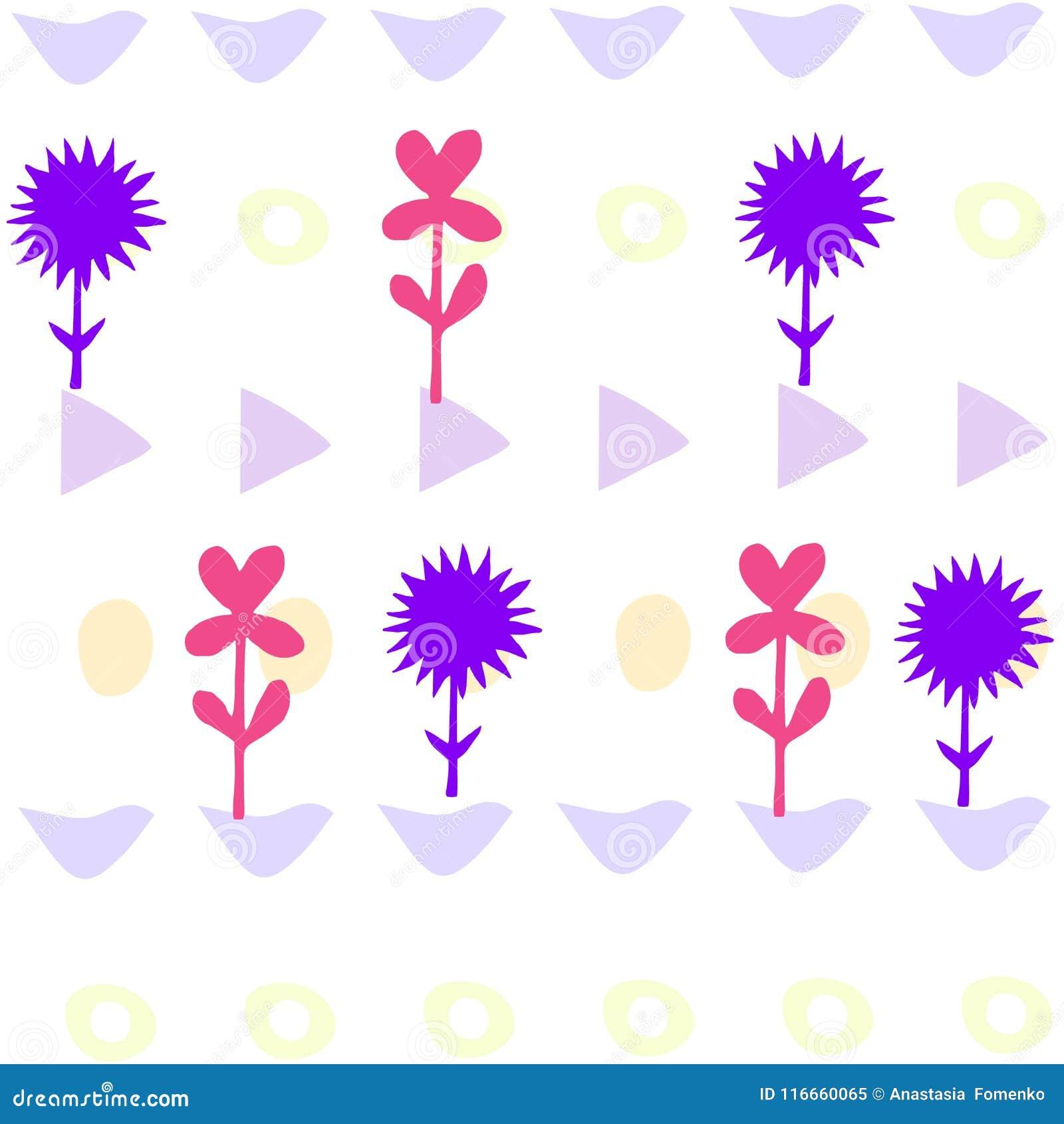 Tarjeta Brillante Colorida Con Las Flores El Fondo