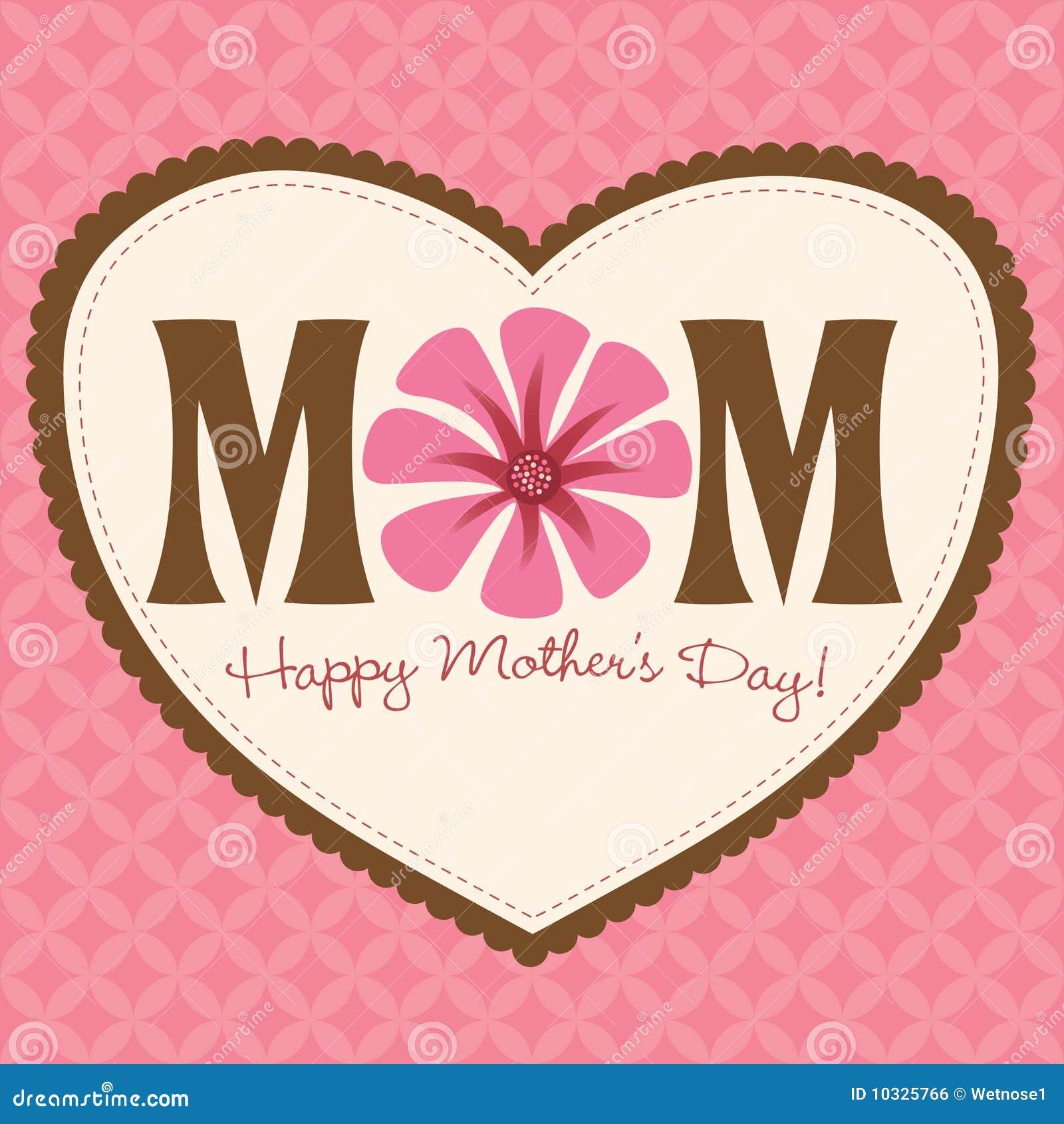 Tarjeta/cartel del día de madre