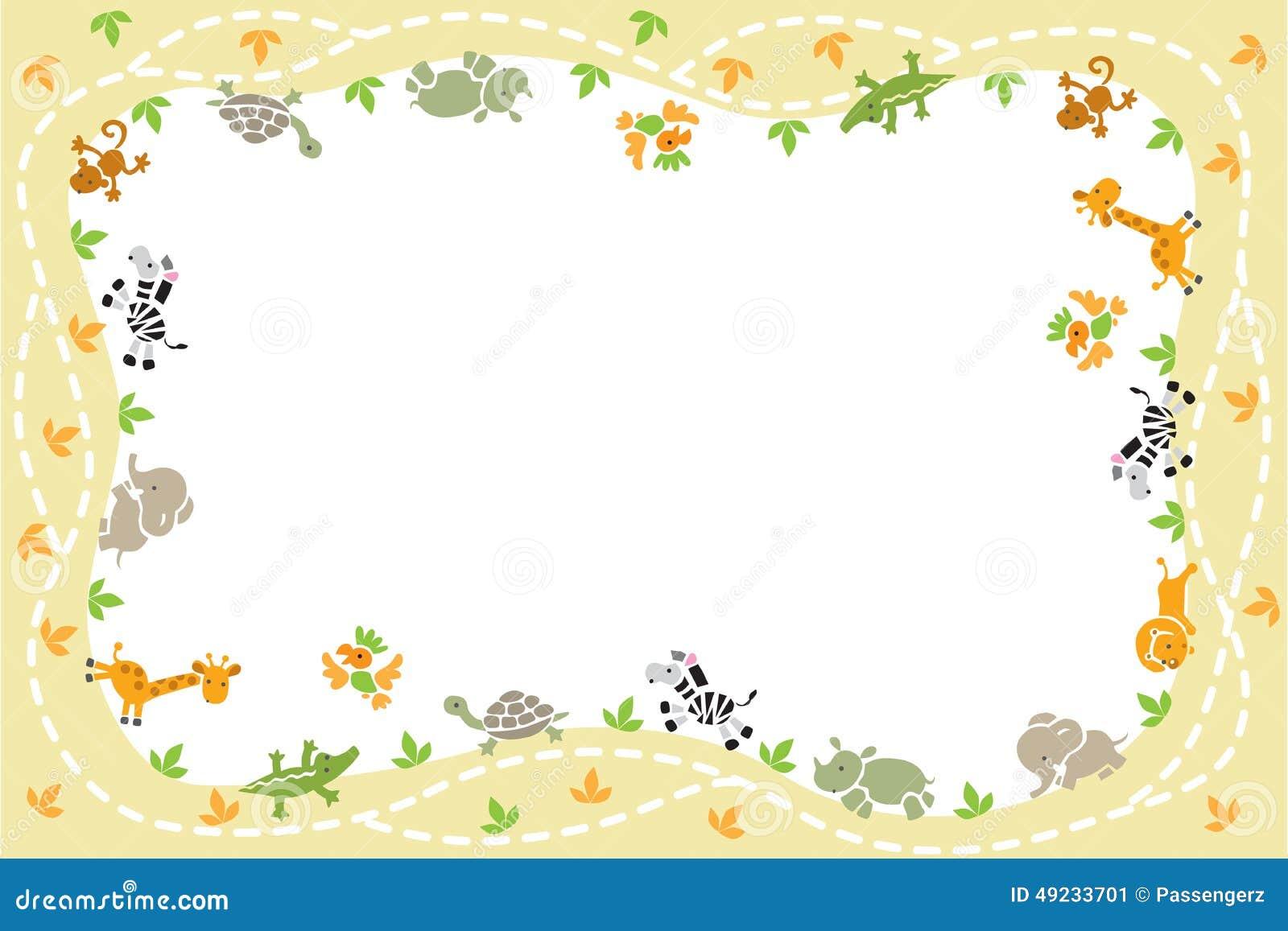 Tarjeta Con Los Animales Divertidos Imagen de archivo - Imagen de ...