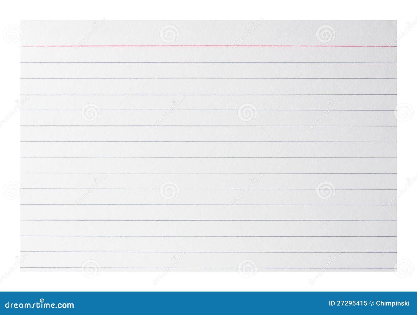 Tarjeta De índice En Blanco Imagen de archivo - Imagen de nuevo ...