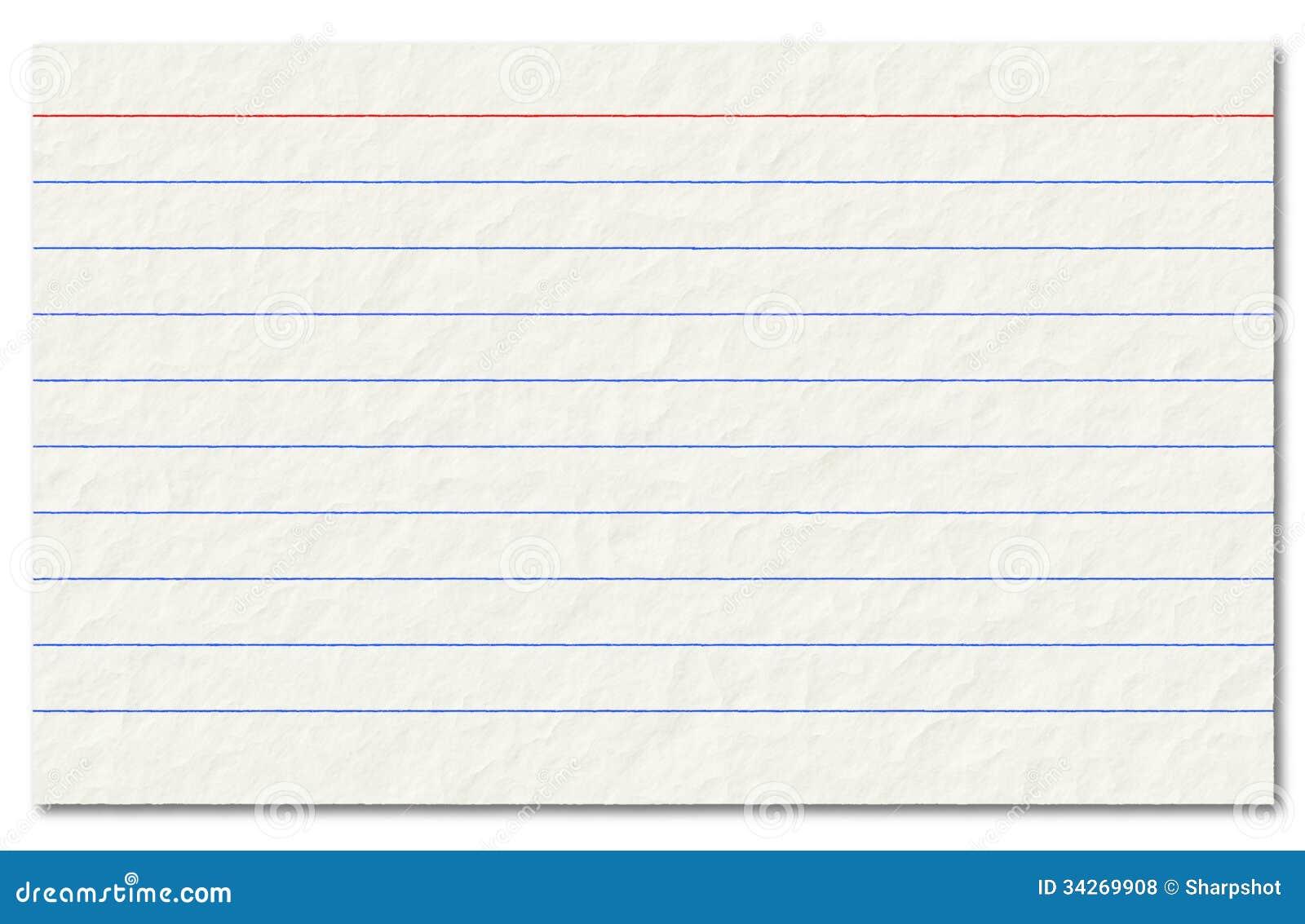 Tarjeta De índice Vieja Aislada En Un Fondo Blanco. Foto de archivo ...