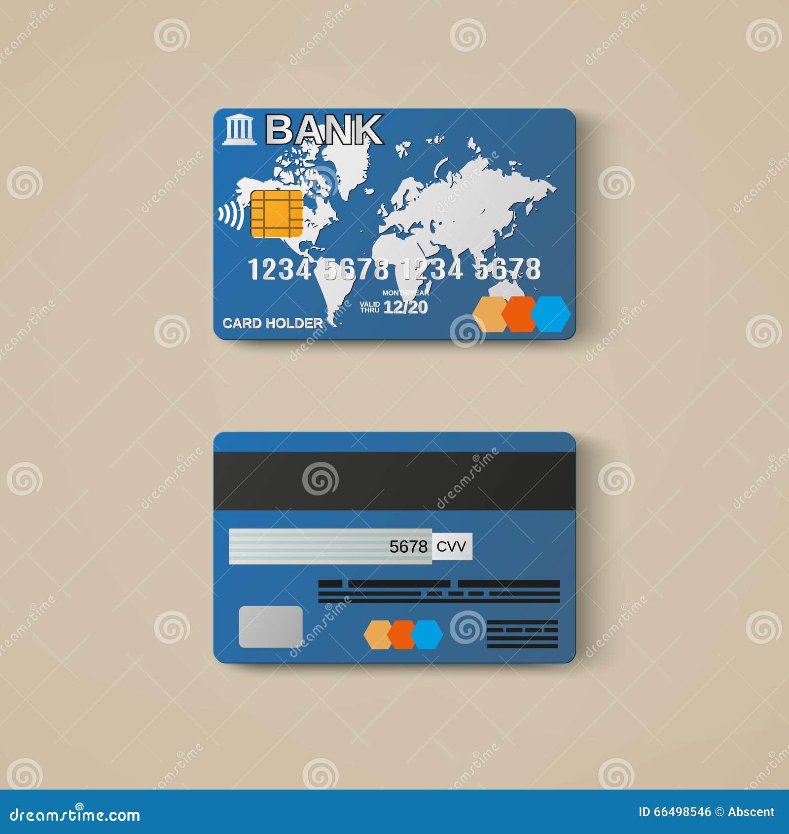 Tarjeta De Banco, Plantilla Del Diseño De La Tarjeta De Crédito ...