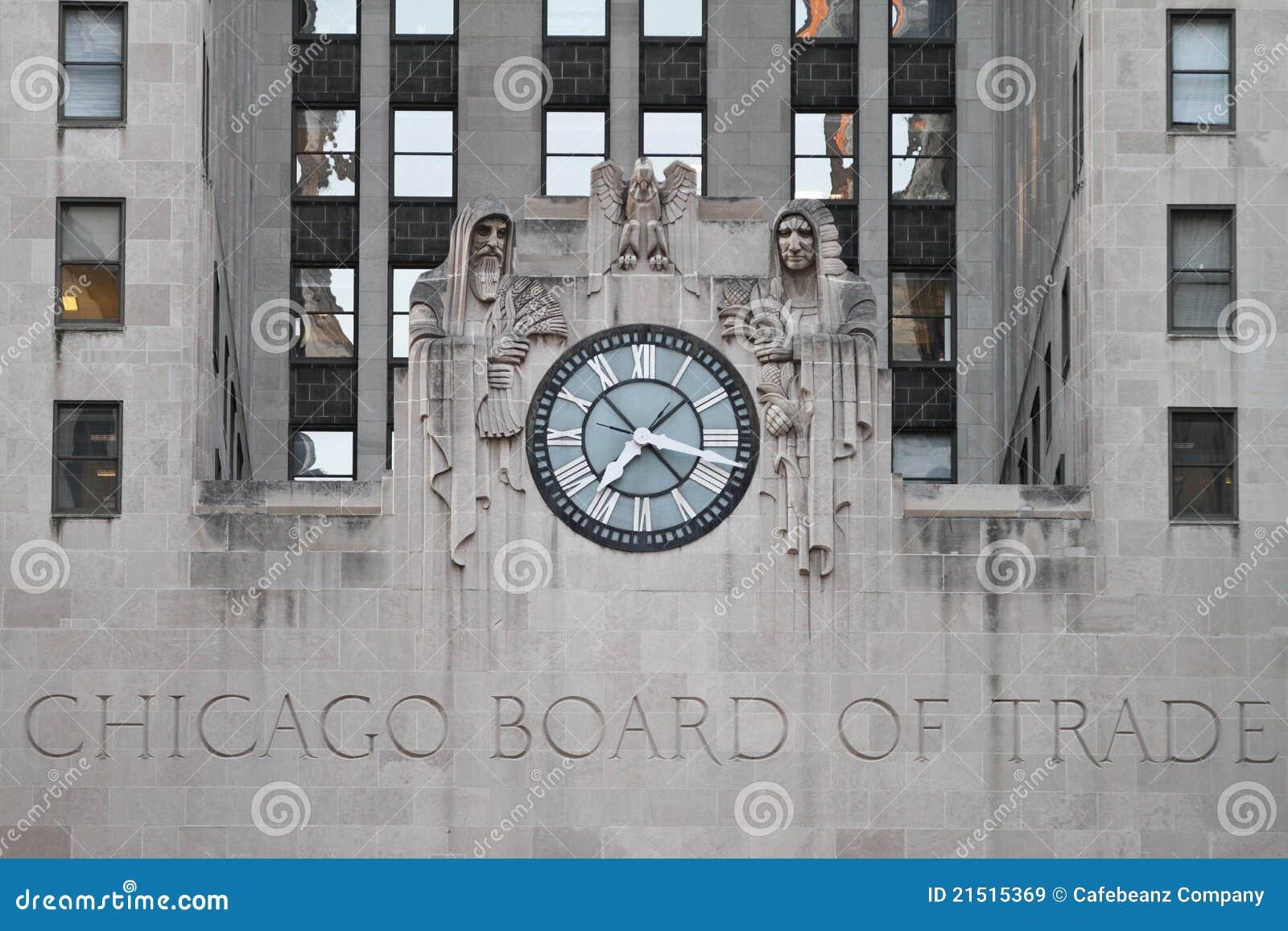 Tarjeta de Chicago del edificio del comercio