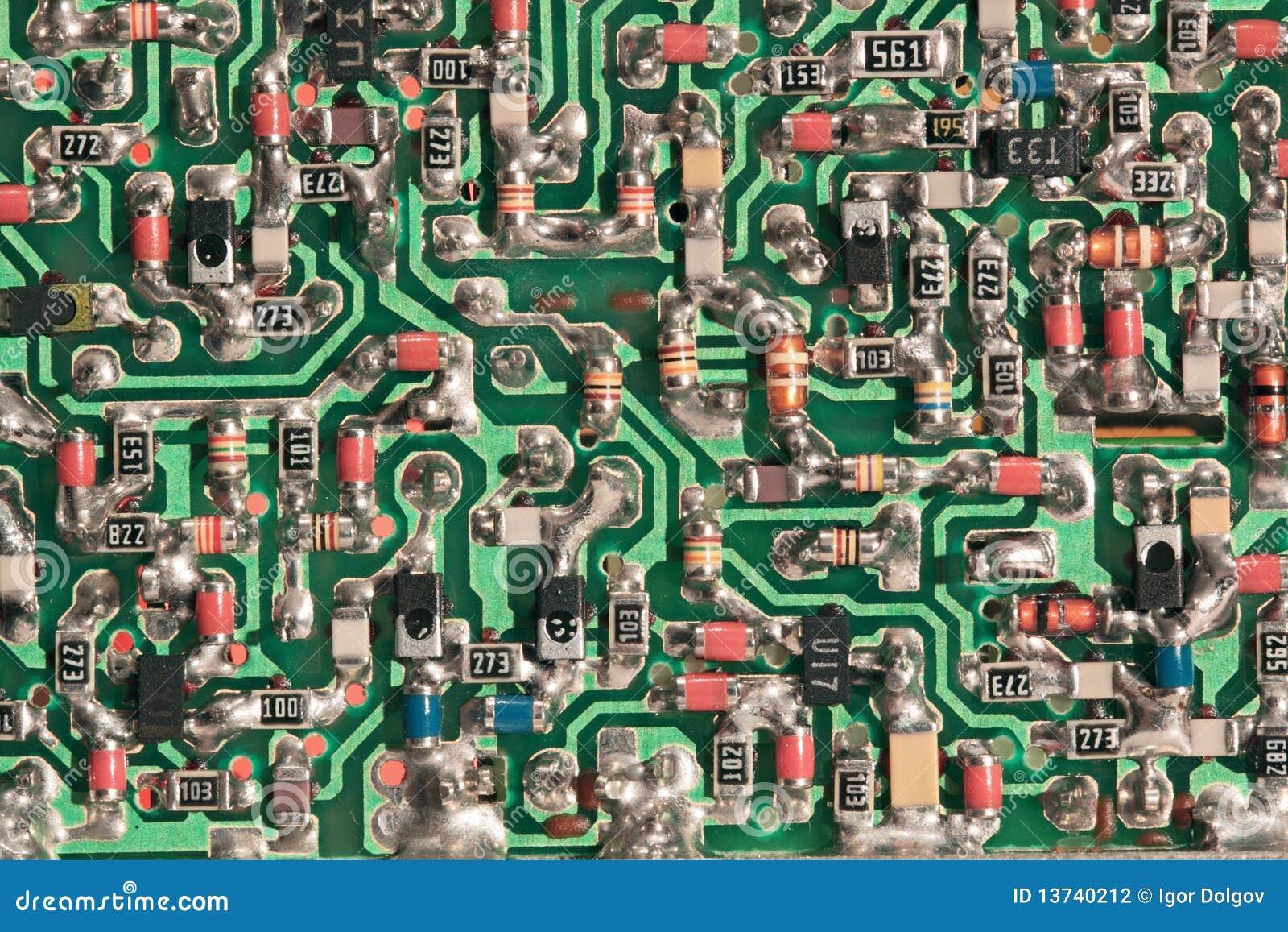 Circuito Impreso : Tarjeta de circuito impreso foto de archivo imagen de impreso