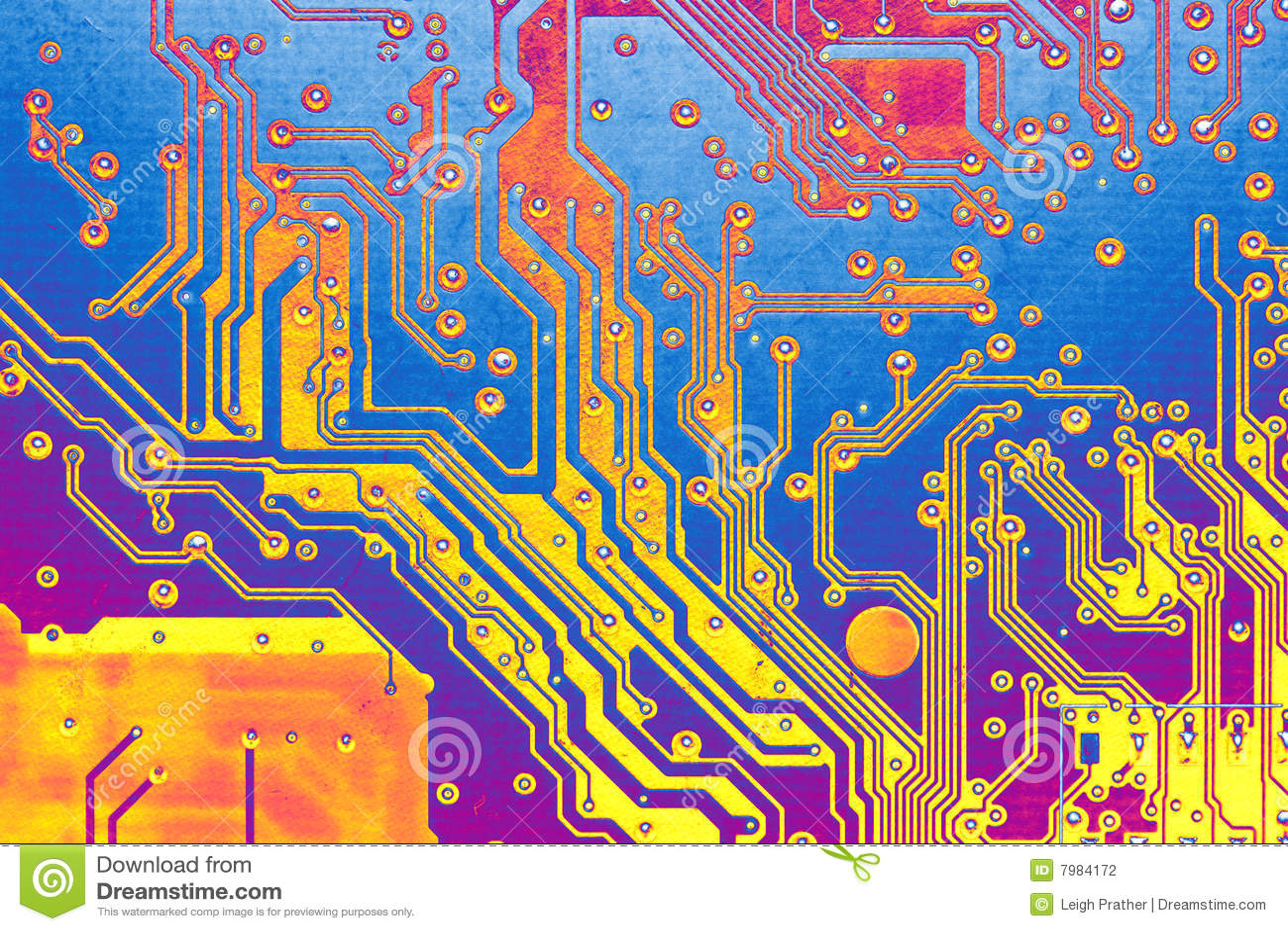 Tarjeta de circuitos abstracta