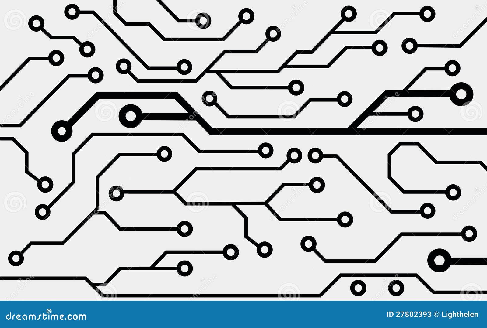 tarjeta de circuitos de ordenador stock de ilustraci u00f3n
