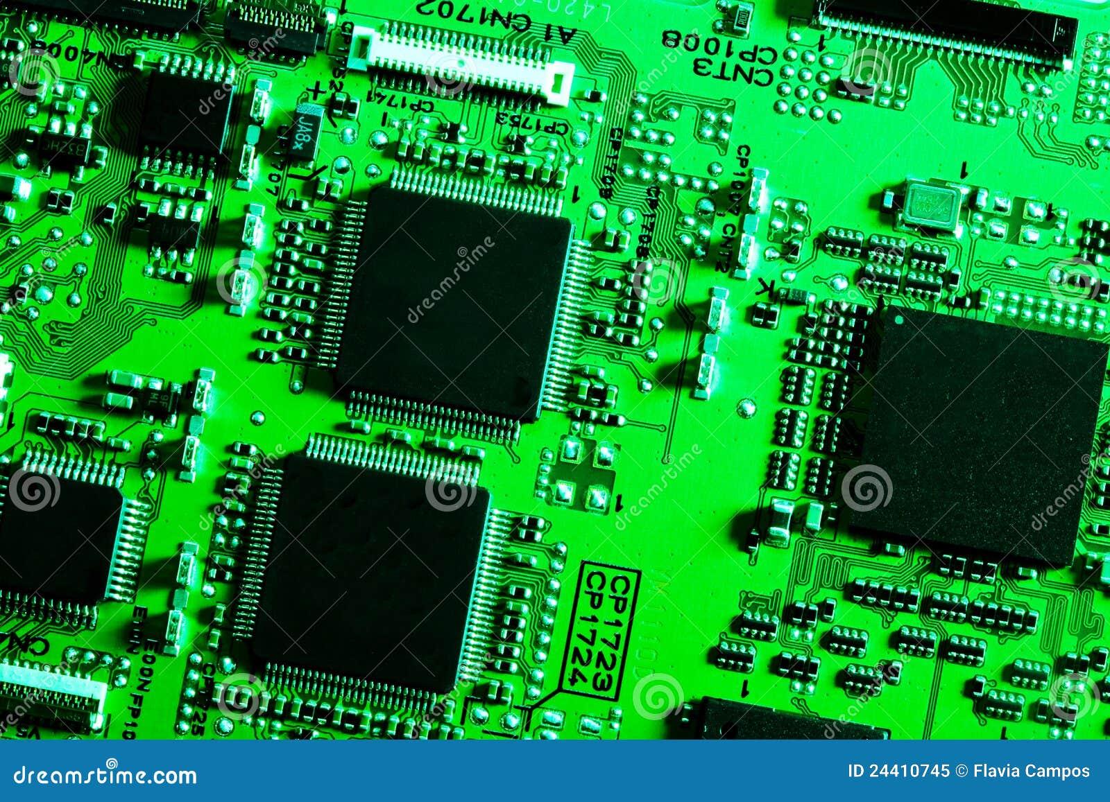 Circuito Electronico : Tarjeta de circuitos electrónicos imagen archivo
