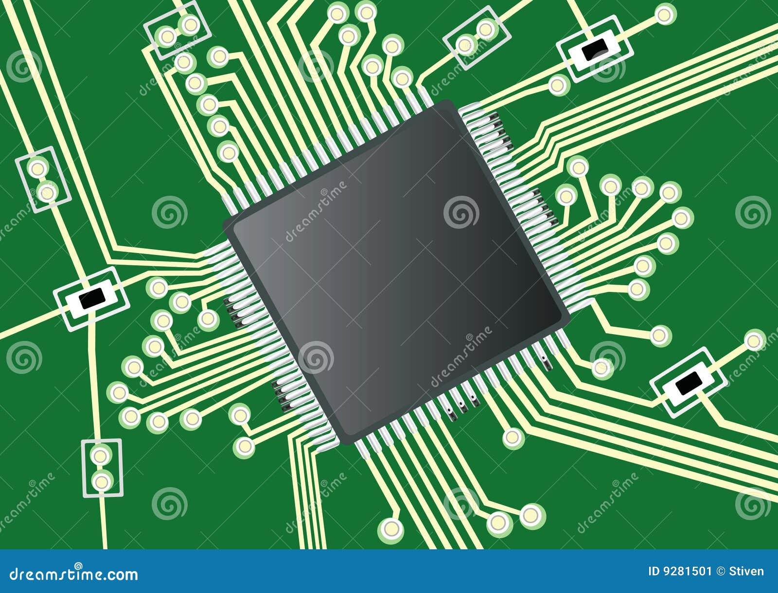 Circuito Impreso : Tarjeta de circuitos impresos imagen archivo