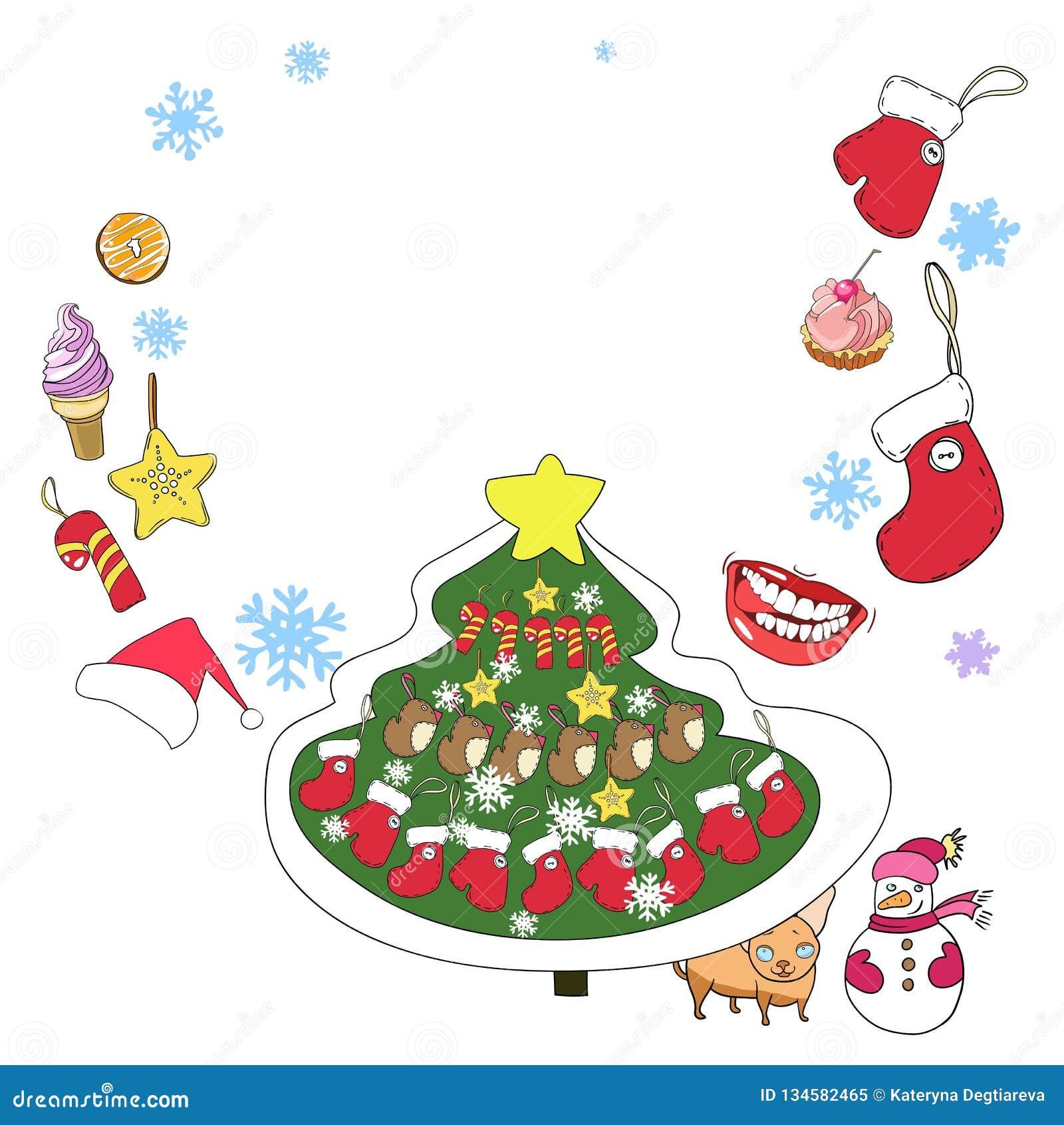 Tarjeta de felicitación, Año Nuevo y la Navidad