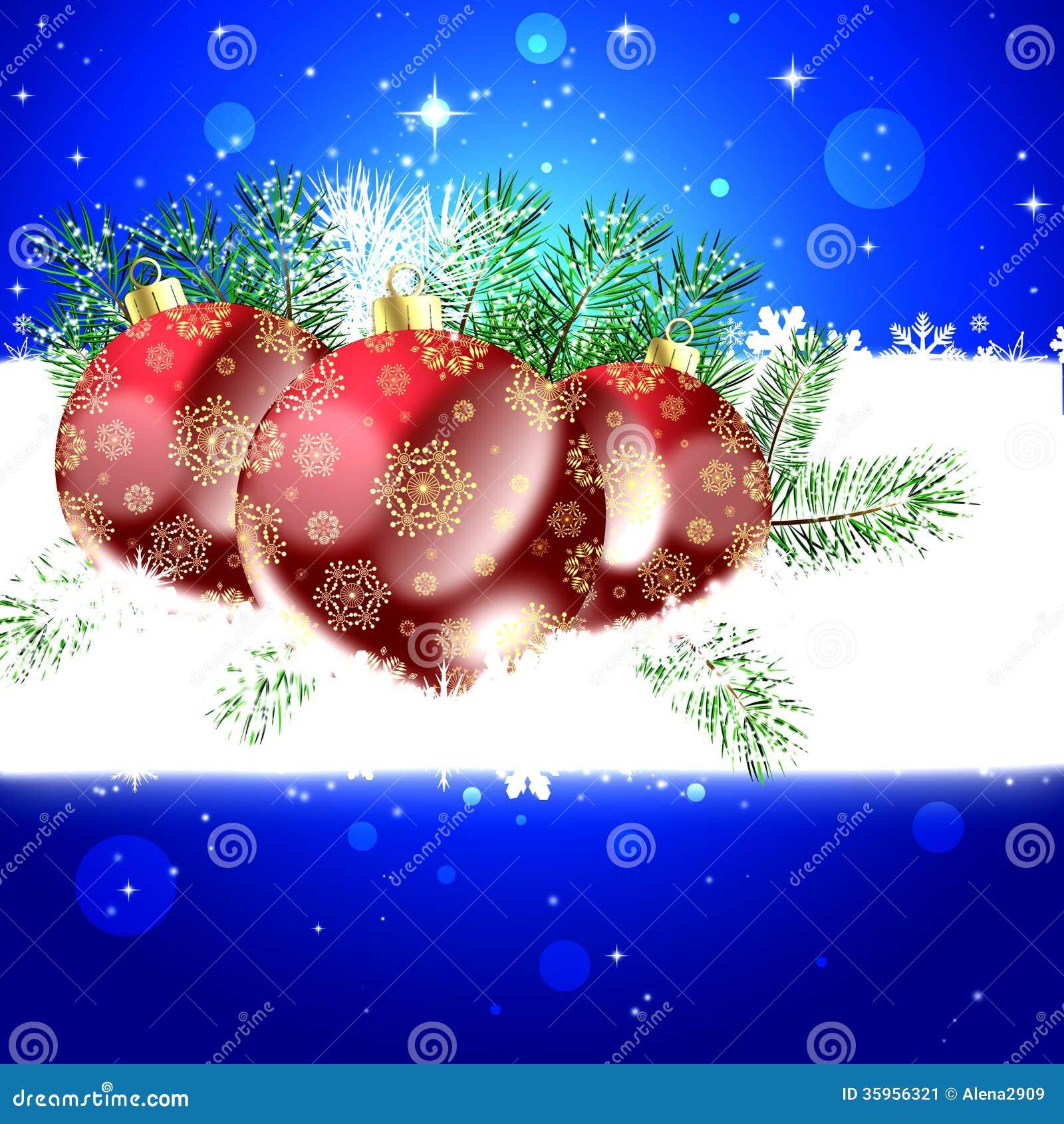 Tarjeta de felicitación azul de la Navidad