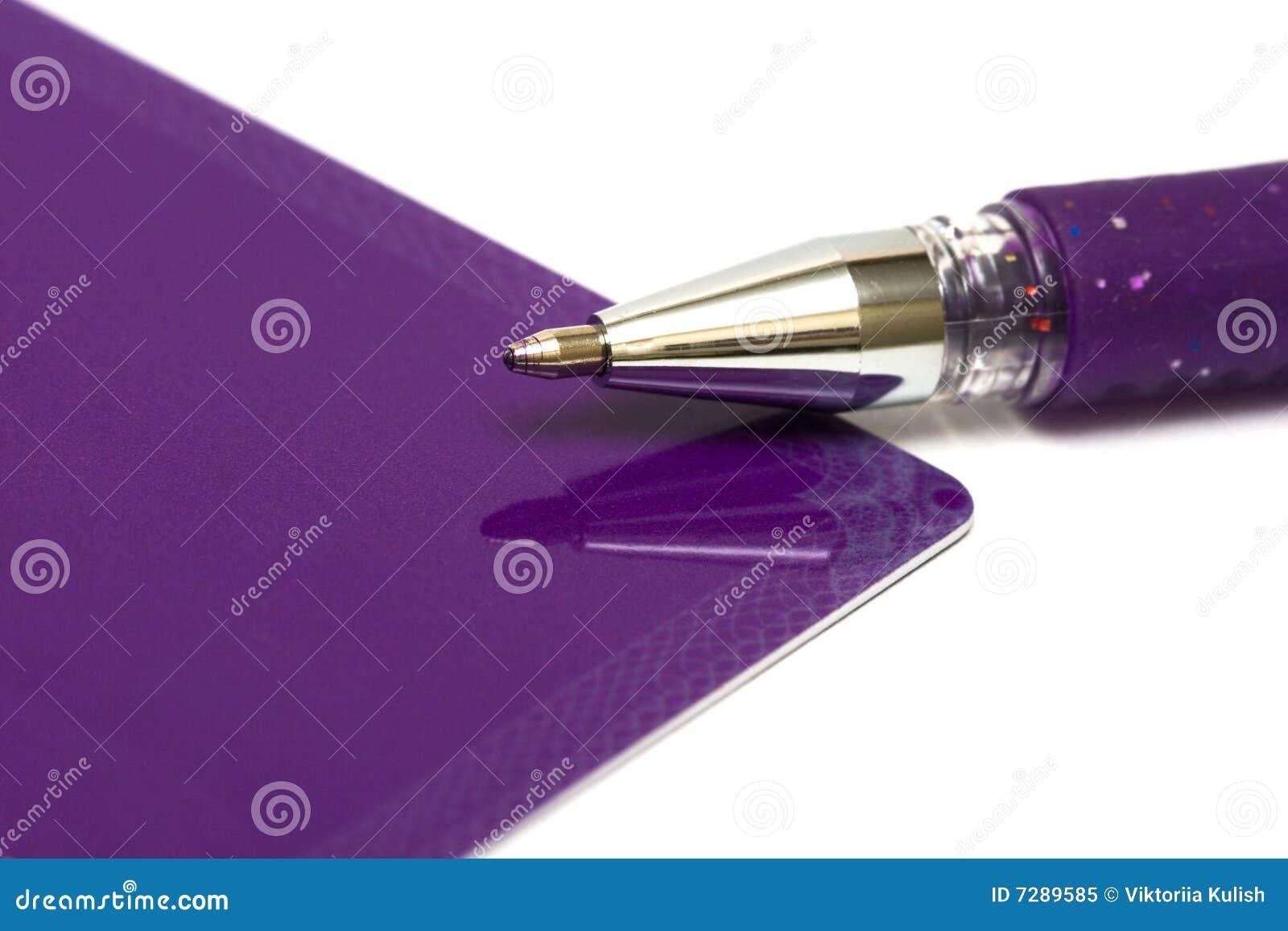 Tarjeta de felicitación con la pluma