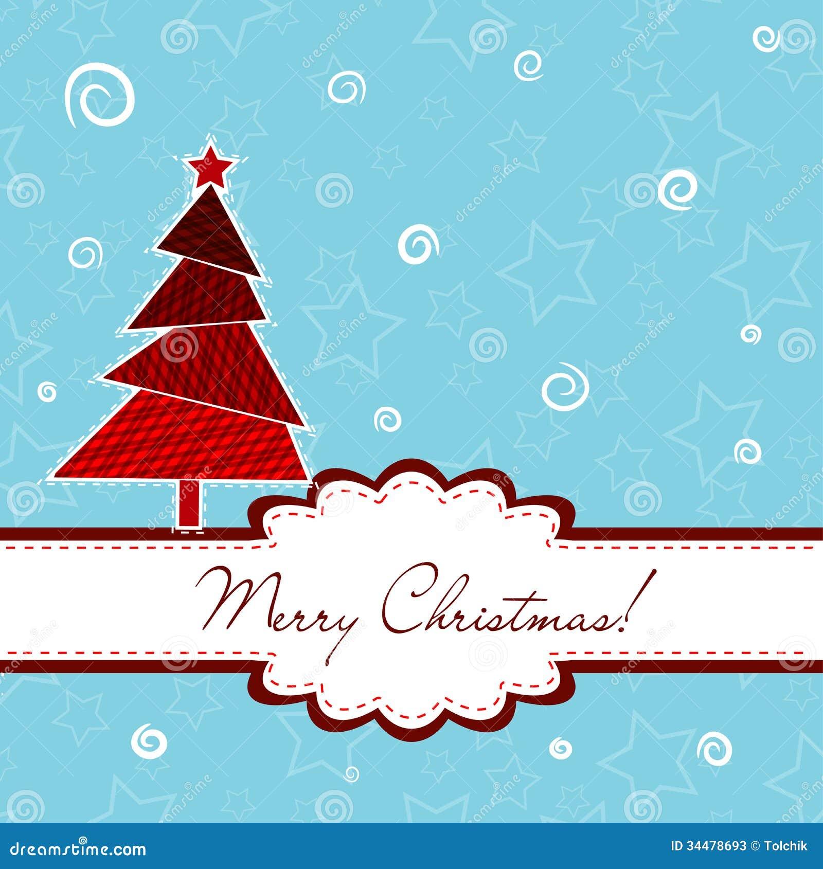 Tarjeta De Felicitación De La Navidad De La Plantilla, Vector ...