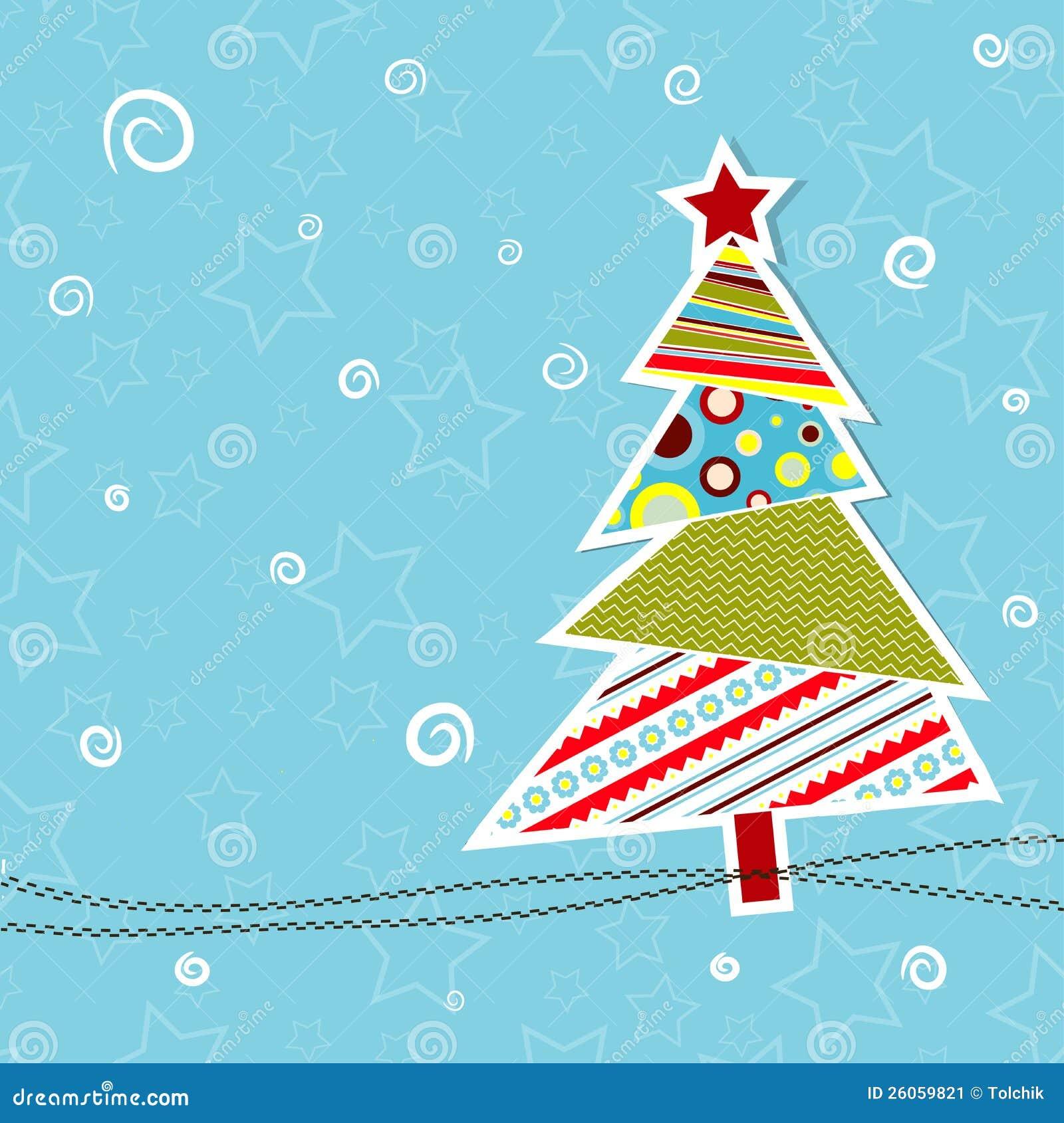 Tarjeta De Felicitación De La Navidad Del Modelo, Vector Ilustración ...